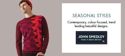Mens Seasonal Wool Knitwear, Wool Sweaters & Seasonal Jumpers | John Smedley Official Store