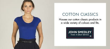 Womens Classic Cotton Knitwear, Classic Cotton Sweaters & Classic Jumpers | John Smedley Official Store