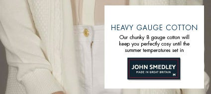 Womens Heavy Gauge Cotton, Cotton Classic Knitwear & Jumpers | John Smedley Official Store