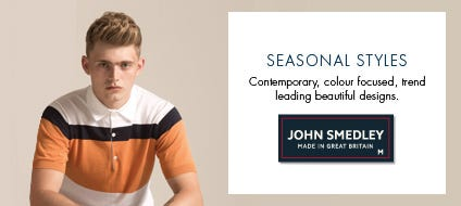 Mens Seasonal Cotton Knitwear, Cotton Sweaters & Seasonal Jumpers | John Smedley Official Store
