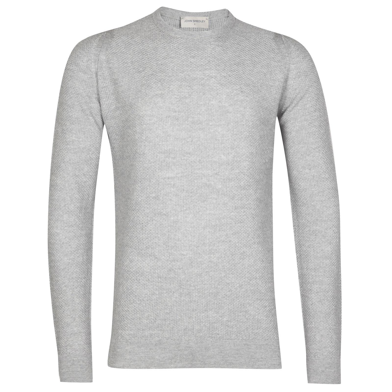John Smedley 1Singular Merino Wool Pullover in Bardot Grey-XS