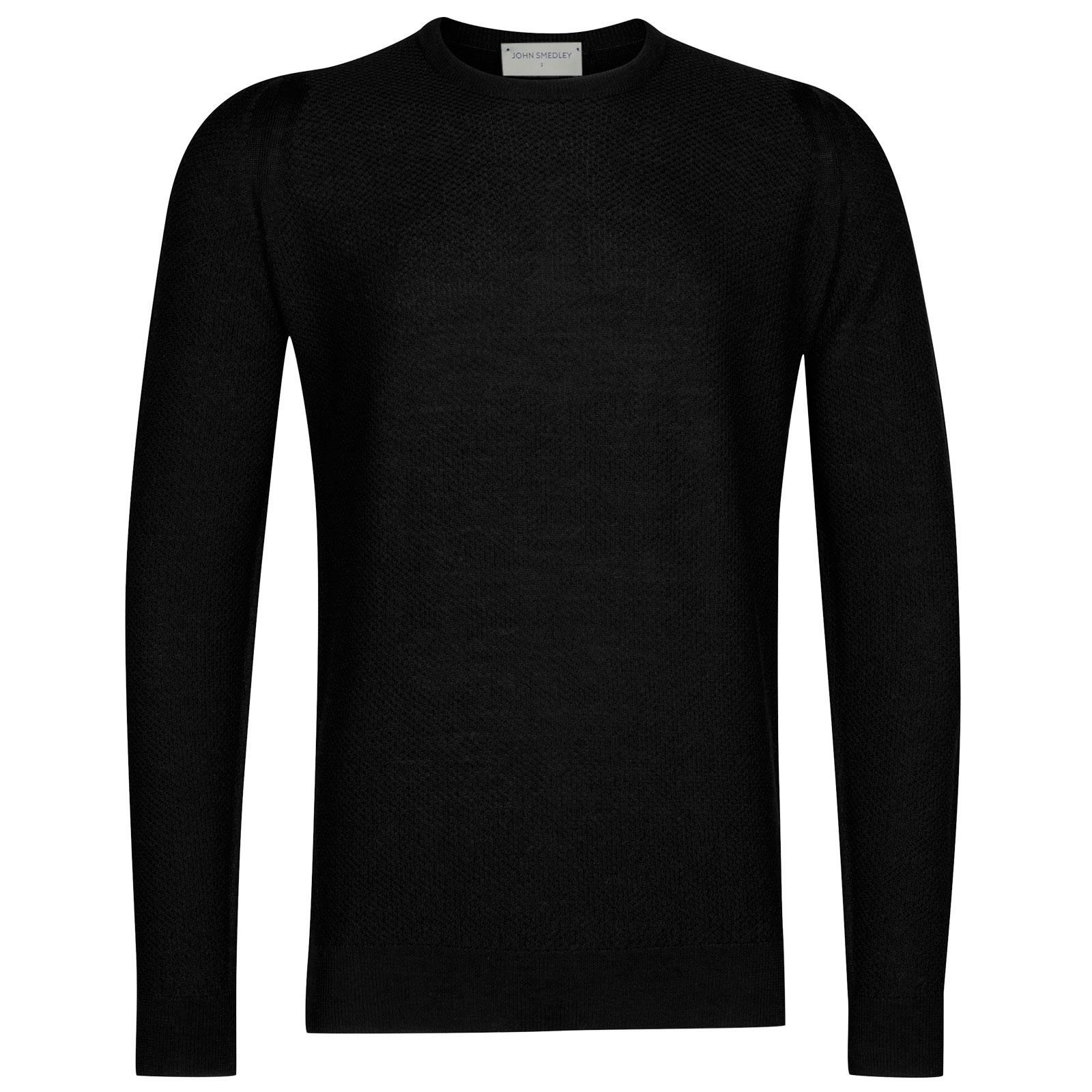 John Smedley 1Singular Merino Wool Pullover in Black-S