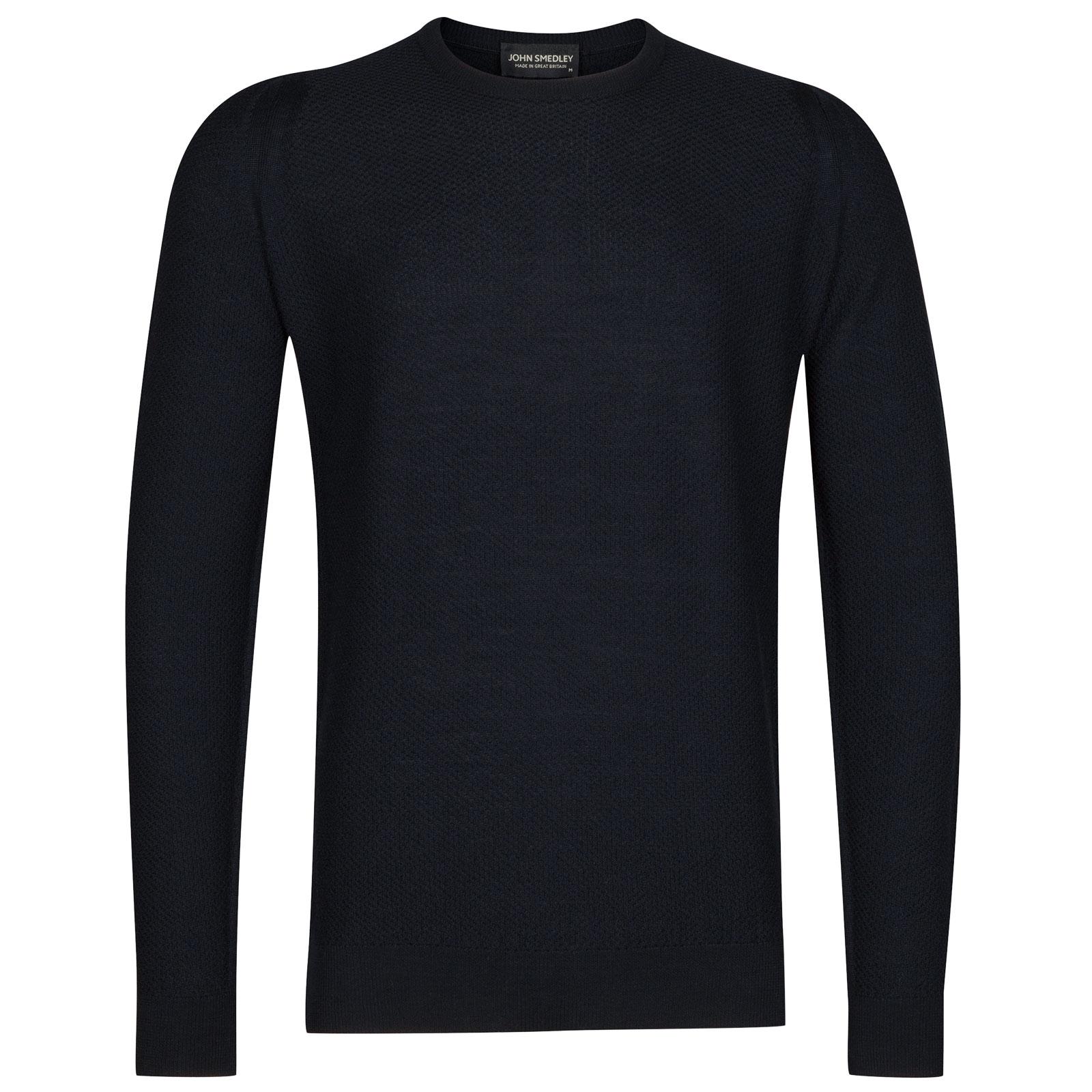 John Smedley 1Singular Merino Wool Pullover in Midnight-M