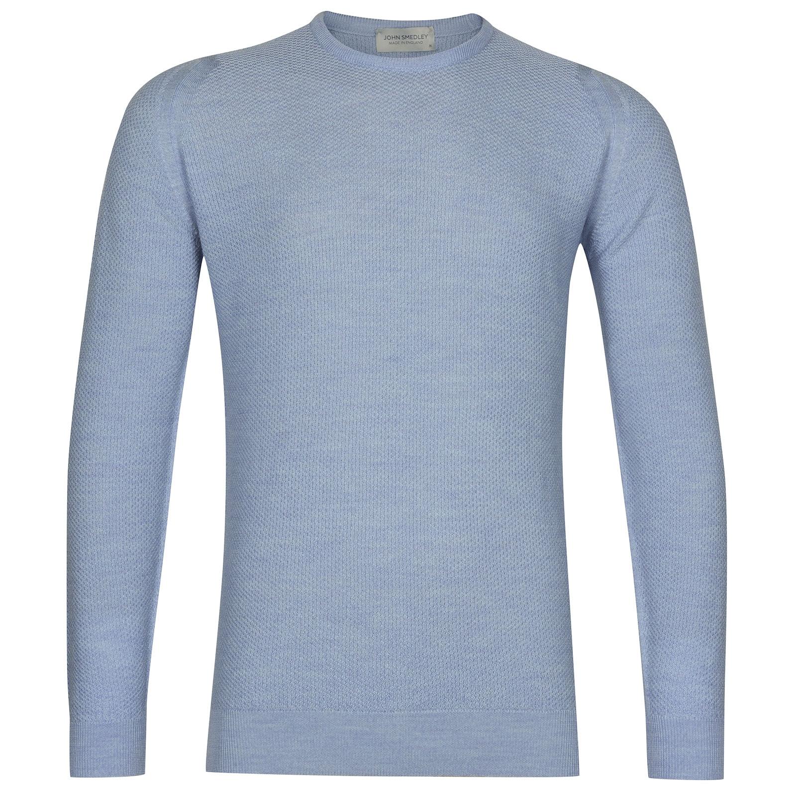 John Smedley 1Singular in Sky Blue Pullover-MED
