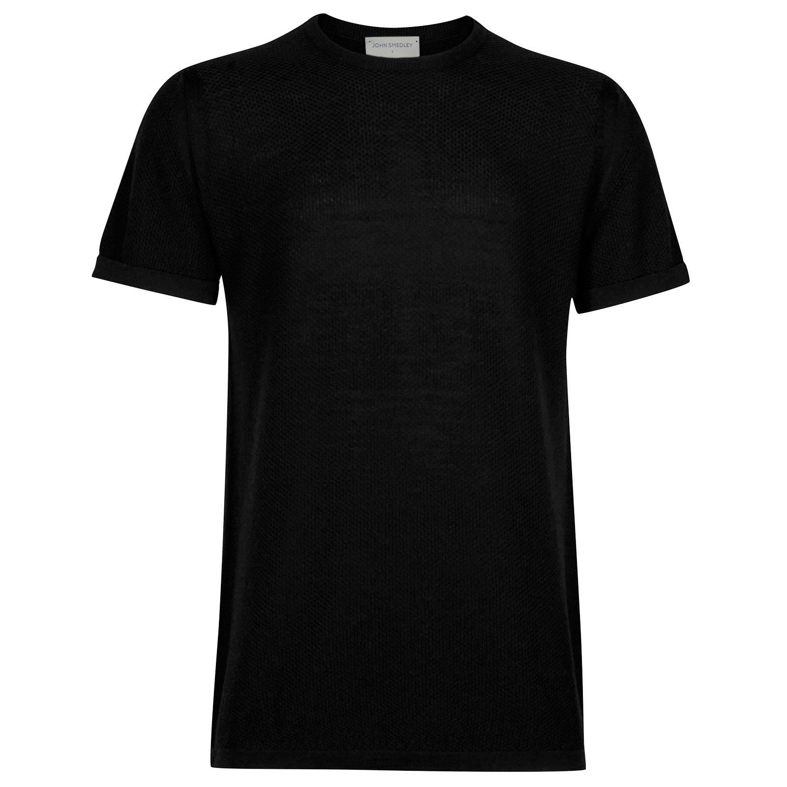 John Smedley 2Singular Merino Wool T-Shirt in Black-S