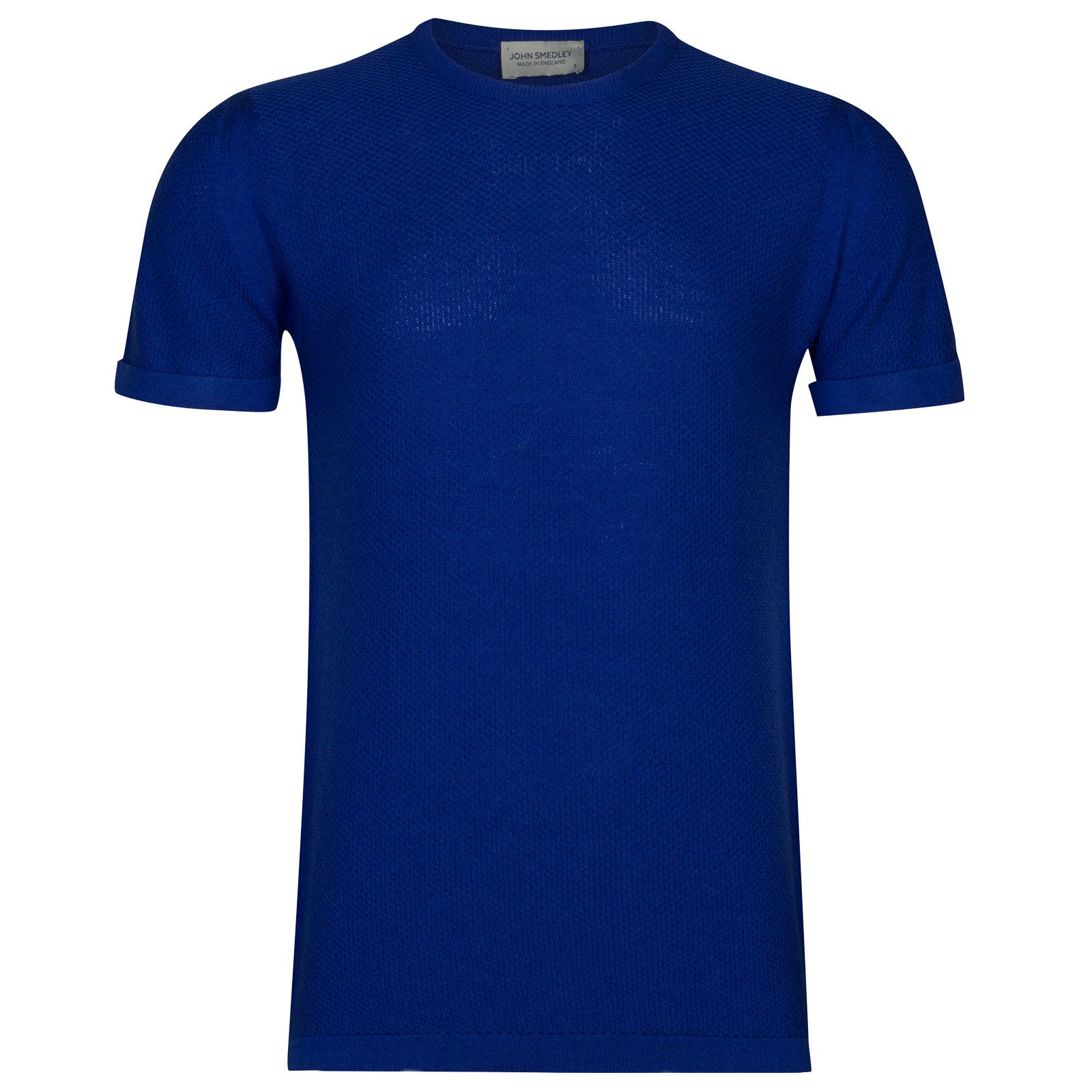 John Smedley 2Singular Merino Wool T-Shirt in Coniston Blue-L