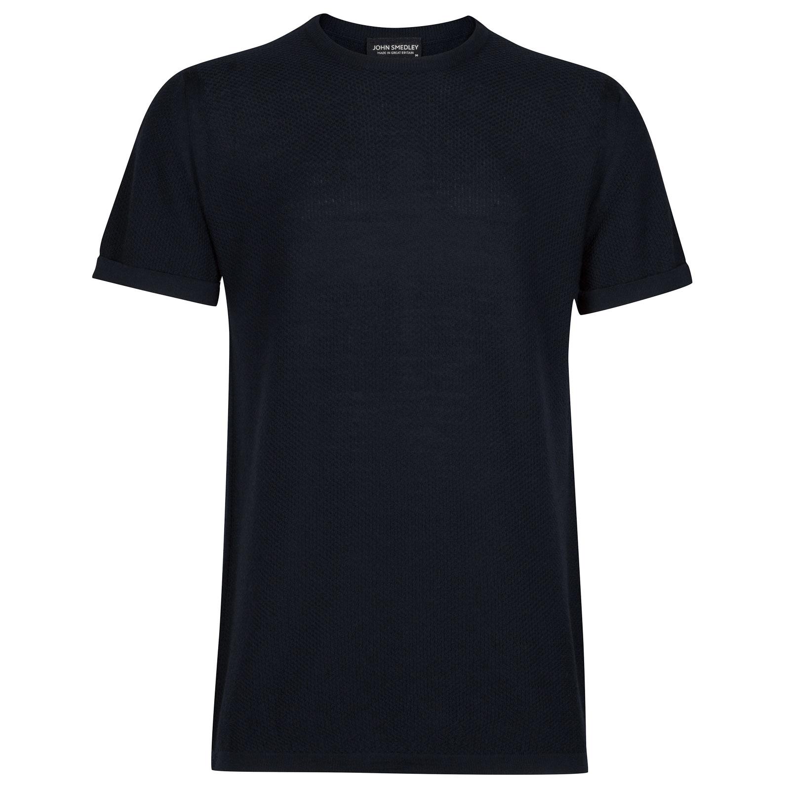John Smedley 2Singular Merino Wool T-Shirt in Midnight-S