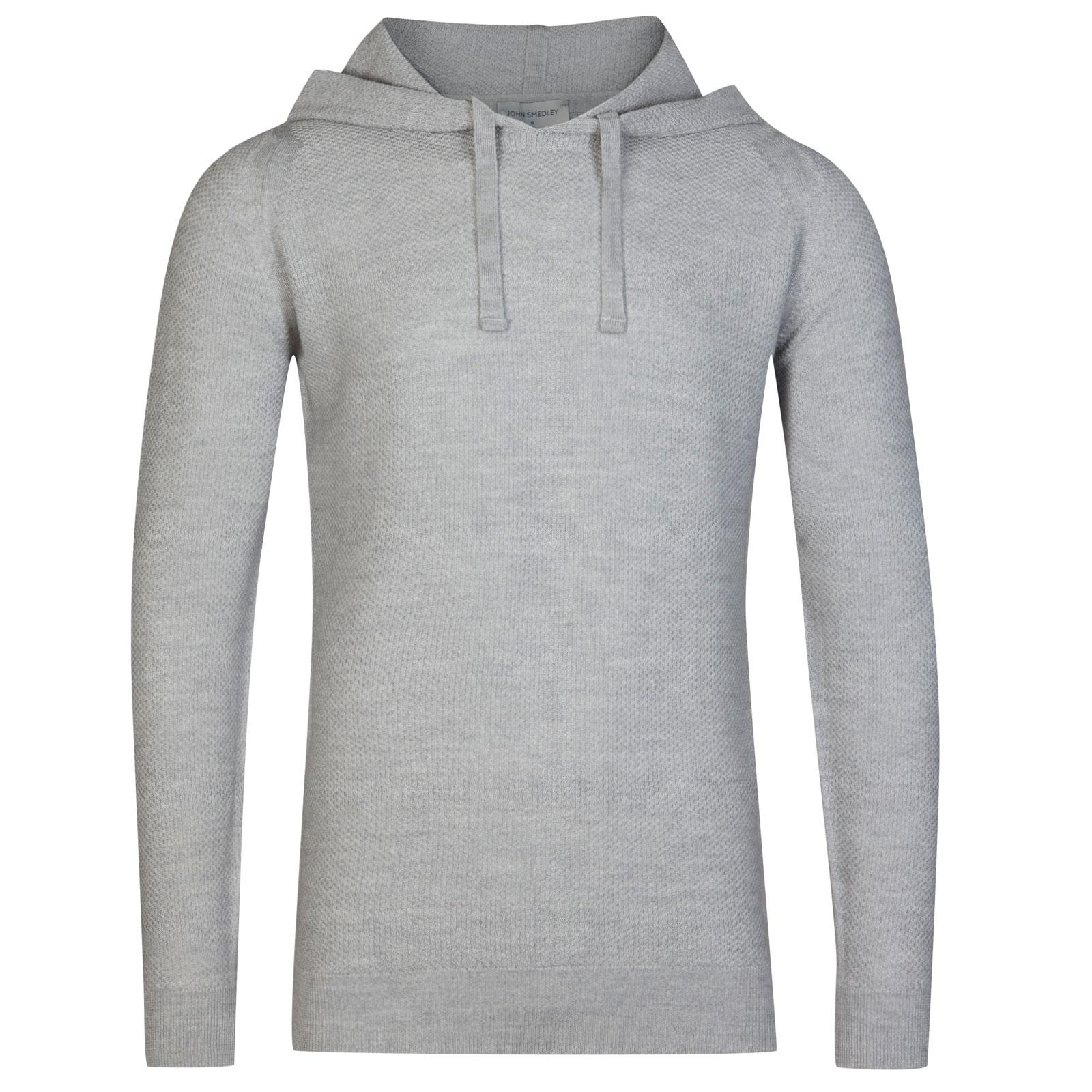 John Smedley 4Singular Merino Wool Pullover in Bardot Grey-XL
