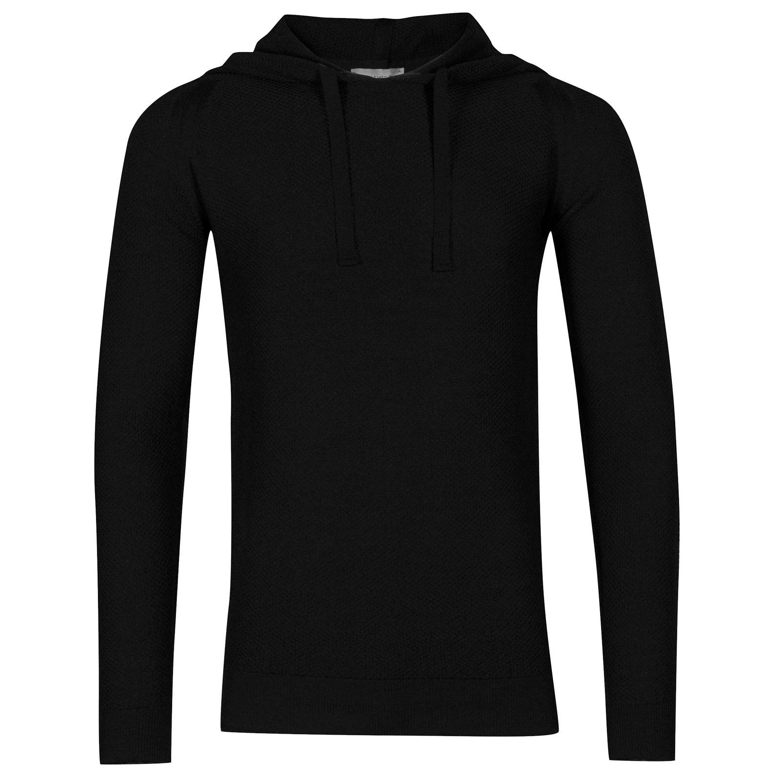 John Smedley 4Singular Merino Wool Pullover in Black-XL