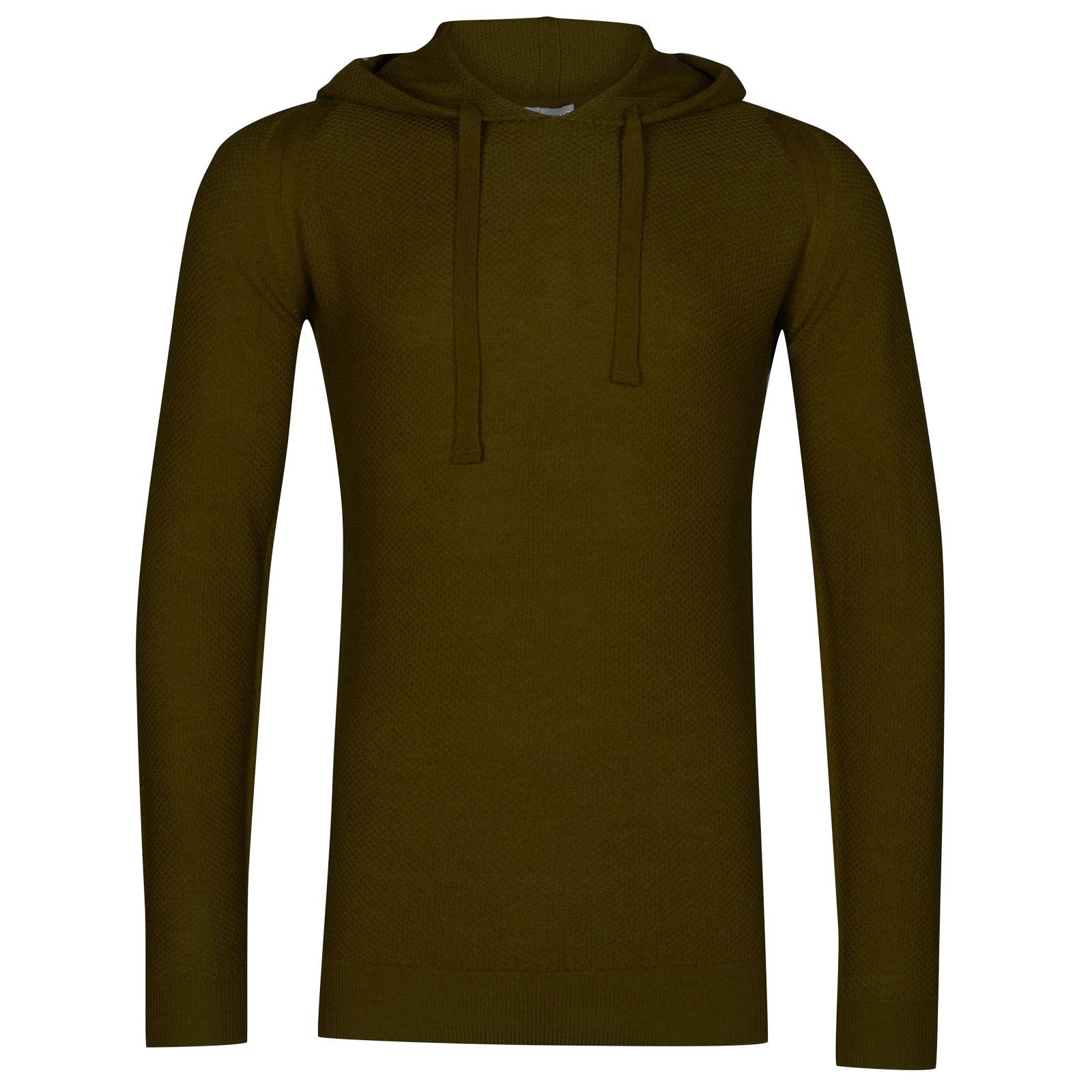 John Smedley 4singular Merino Wool Pullover in Khaki-L