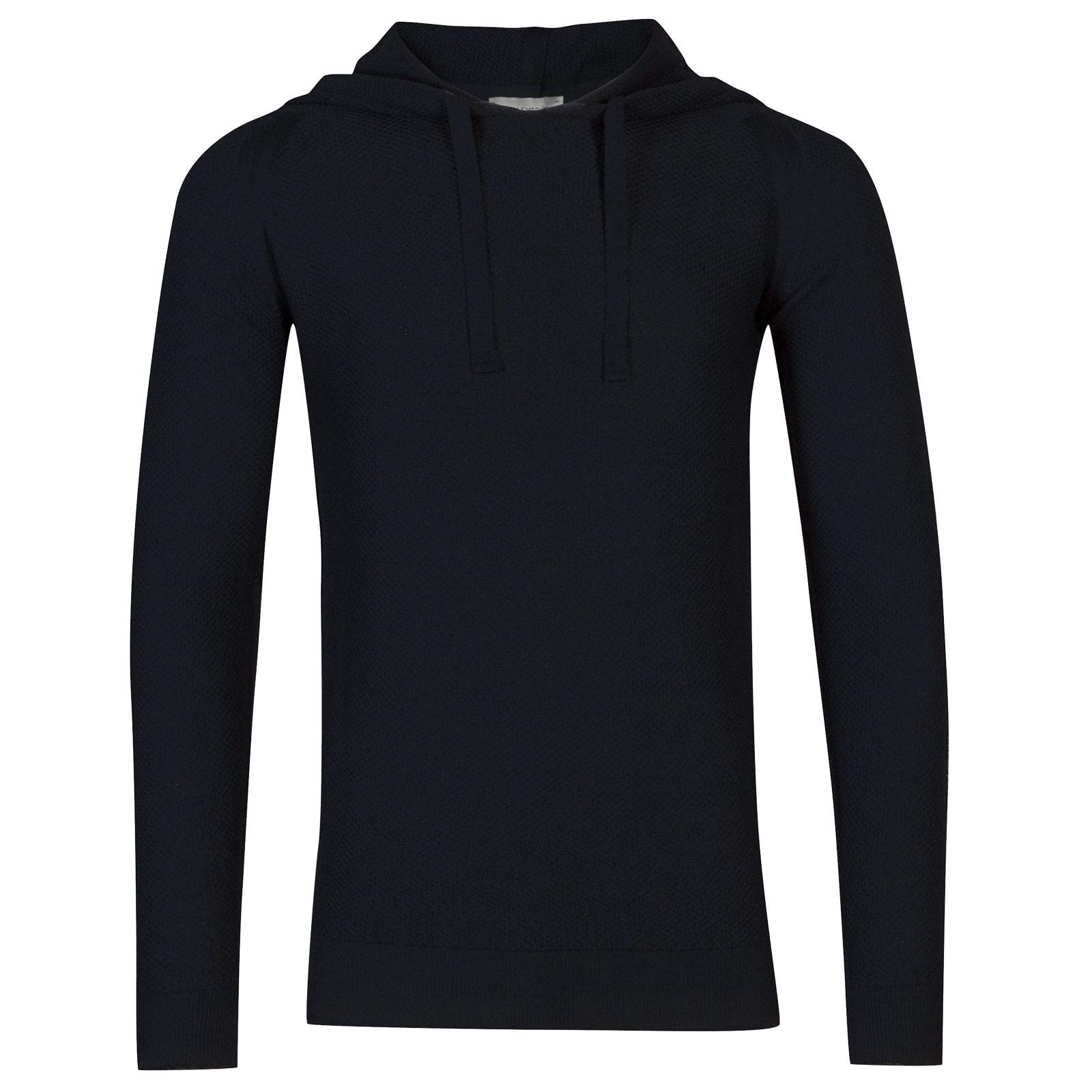John Smedley 4singular Merino Wool Pullover in Midnight-XXL