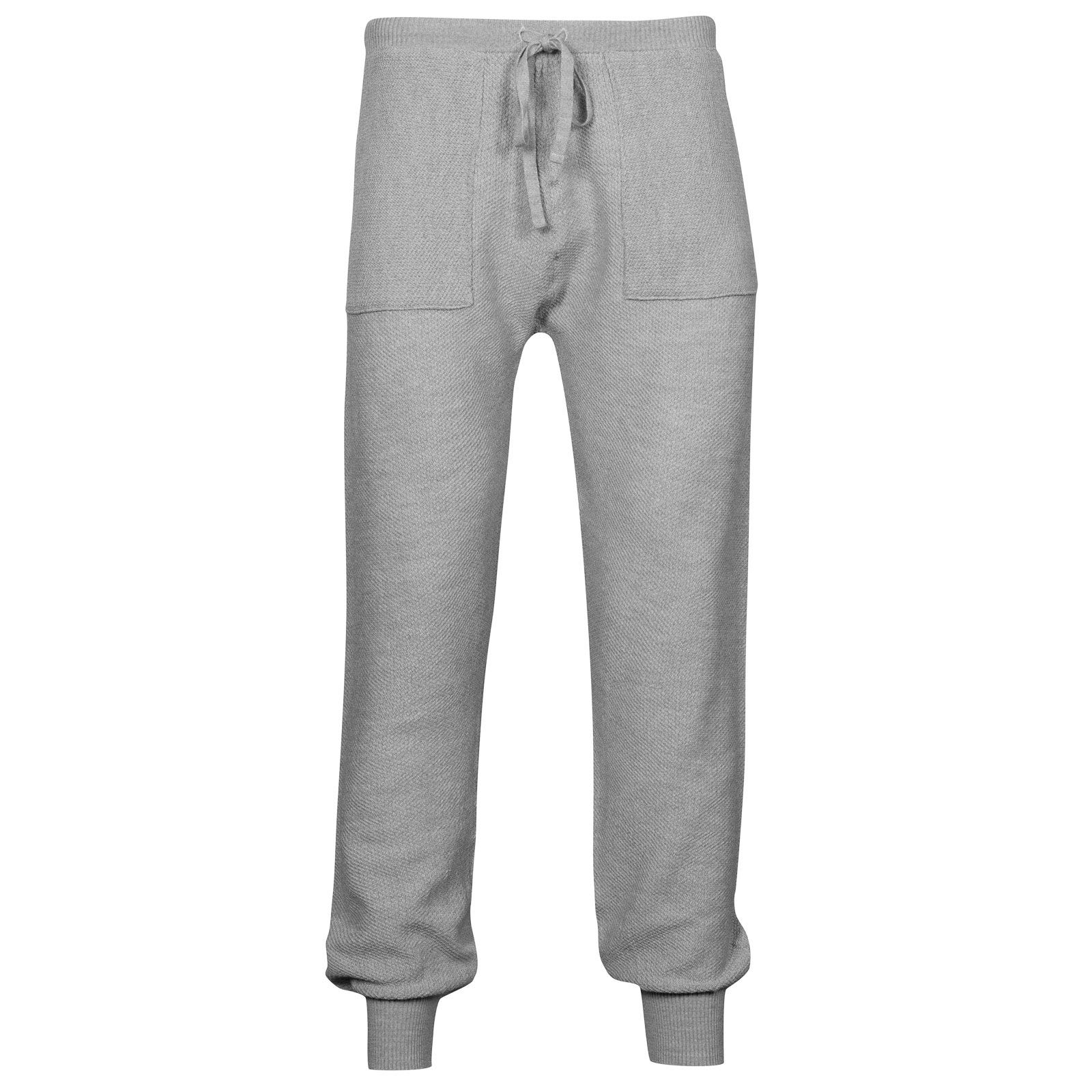 John Smedley 5Singular Merino Wool Trouser in Bardot Grey-XL