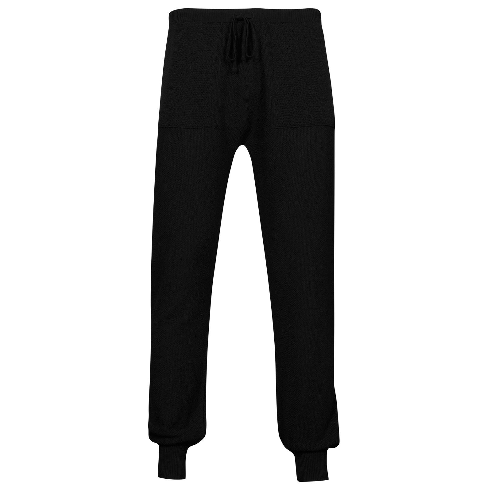 John Smedley 5Singular Merino Wool Trouser in Black-XS