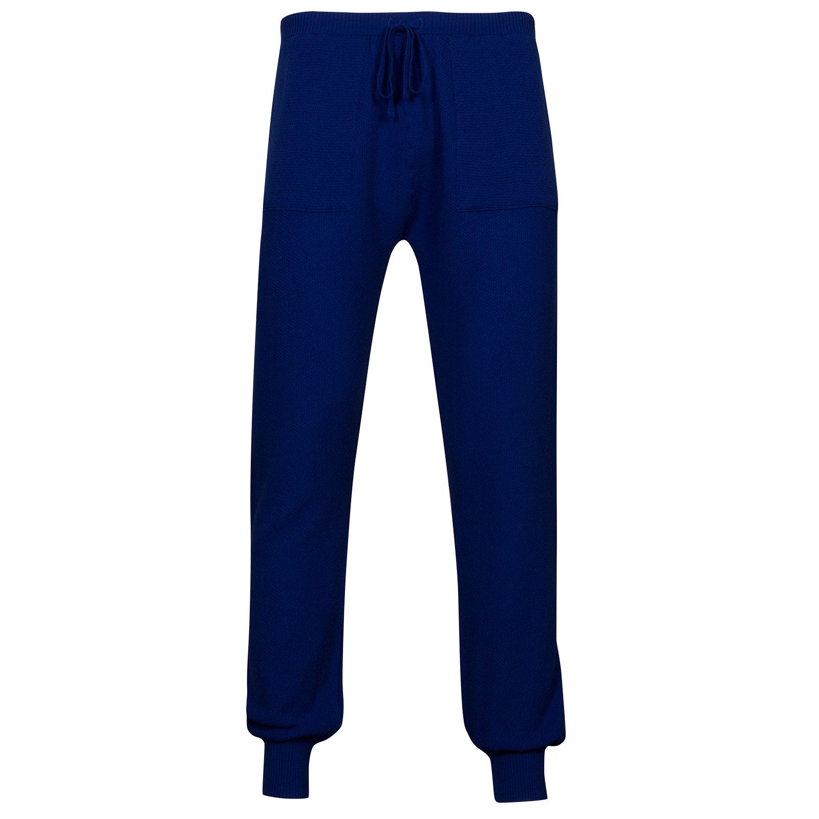 John Smedley 5Singular Merino Wool Trouser in Coniston Blue-S