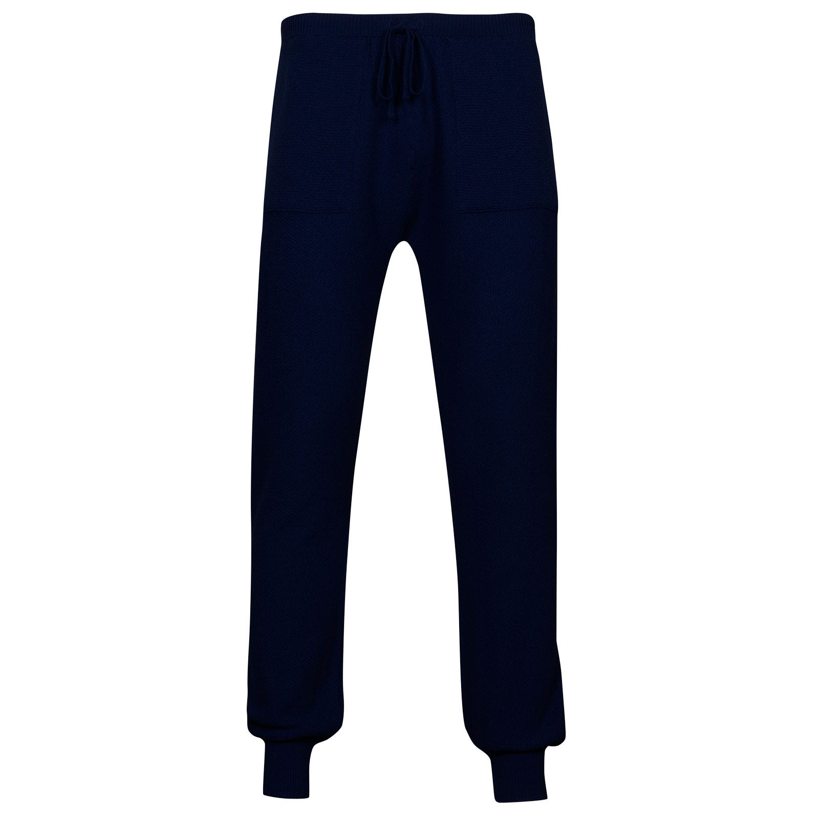 John Smedley 5Singular Merino Wool Trouser in Midnight-XS
