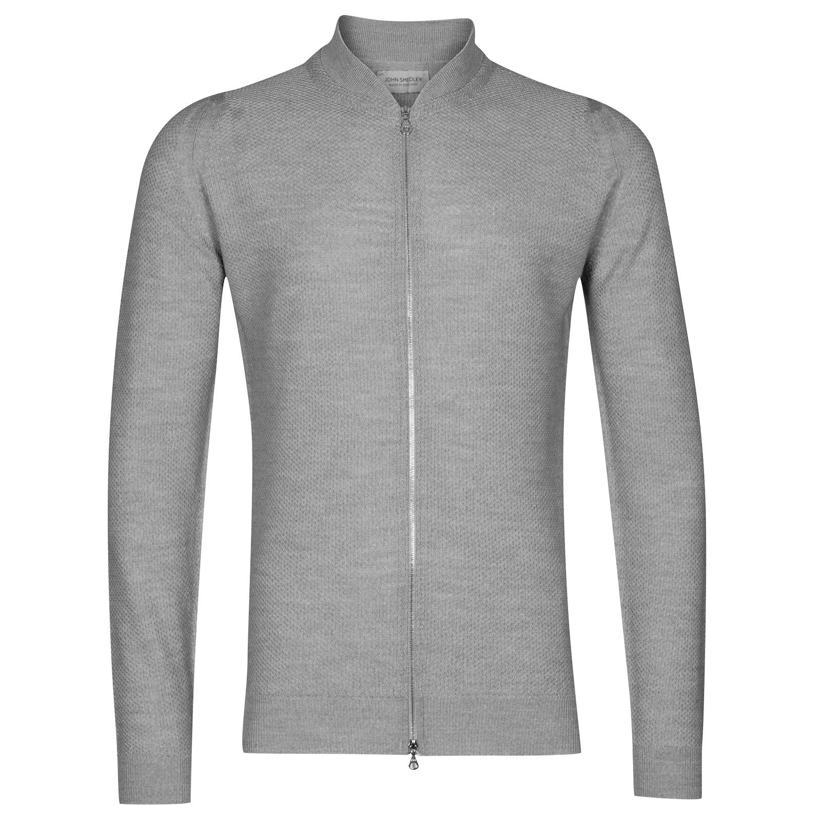 John Smedley 6Singular Merino Wool Jacket in Bardot Grey-XS