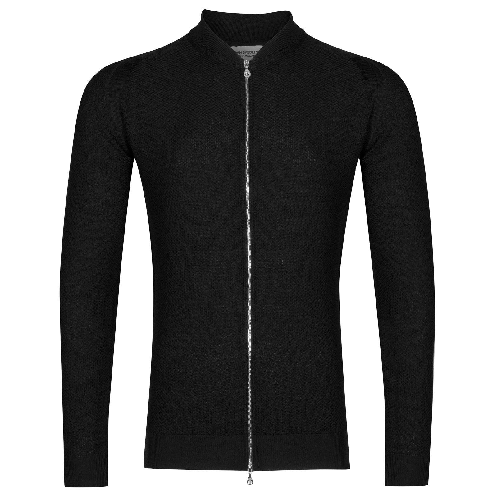 John Smedley 6Singular Merino Wool Jacket in Black-L