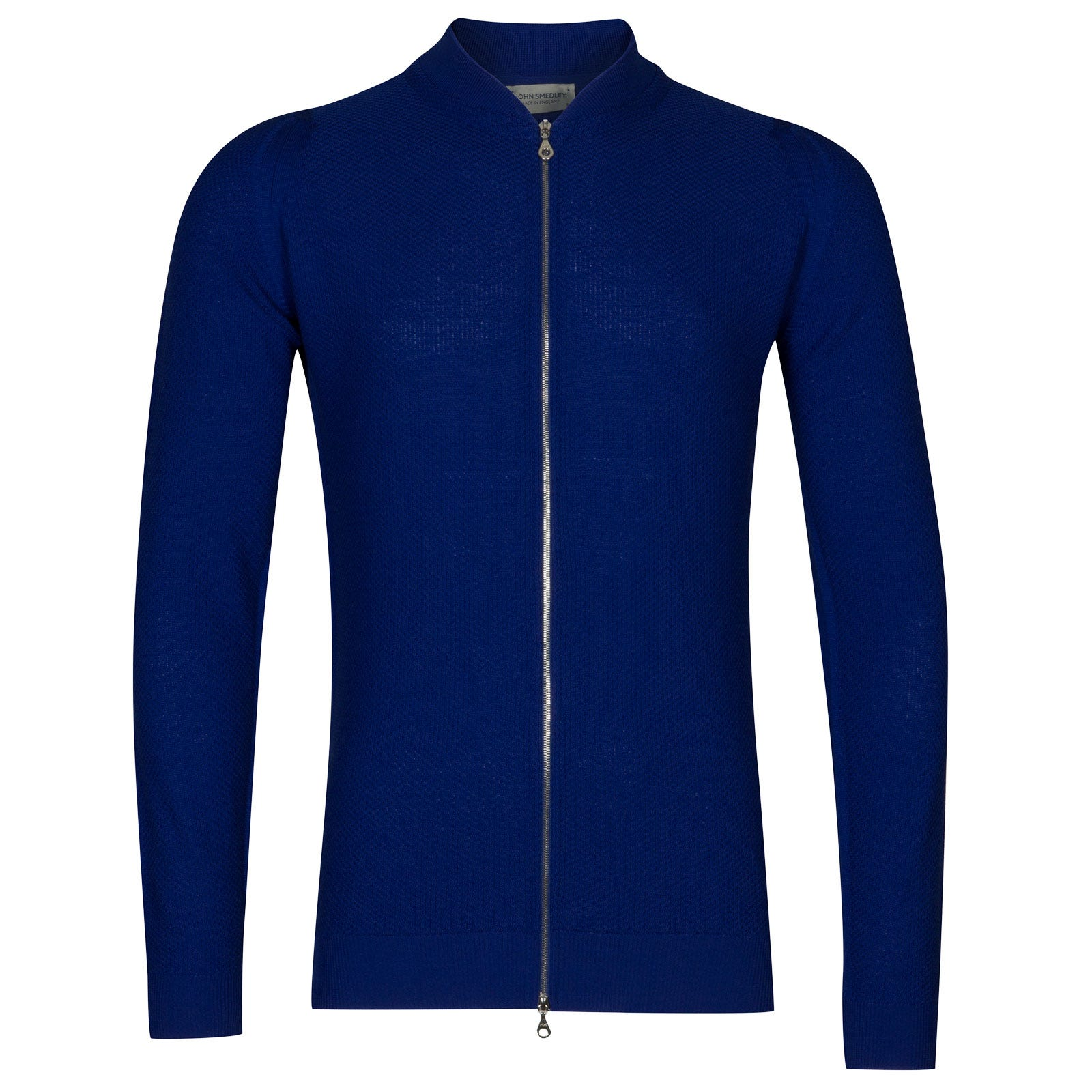 John Smedley 6Singular Merino Wool Jacket in Coniston Blue-XS