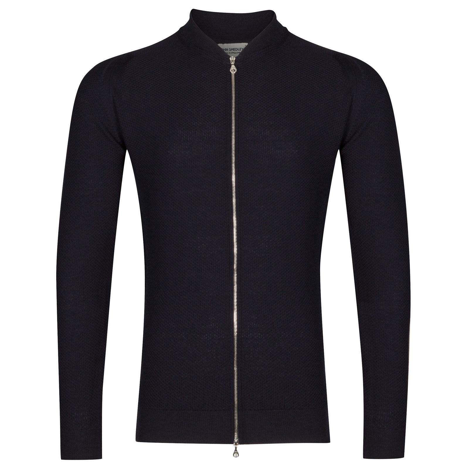 John Smedley 6Singular Merino Wool Jacket in Midnight-M