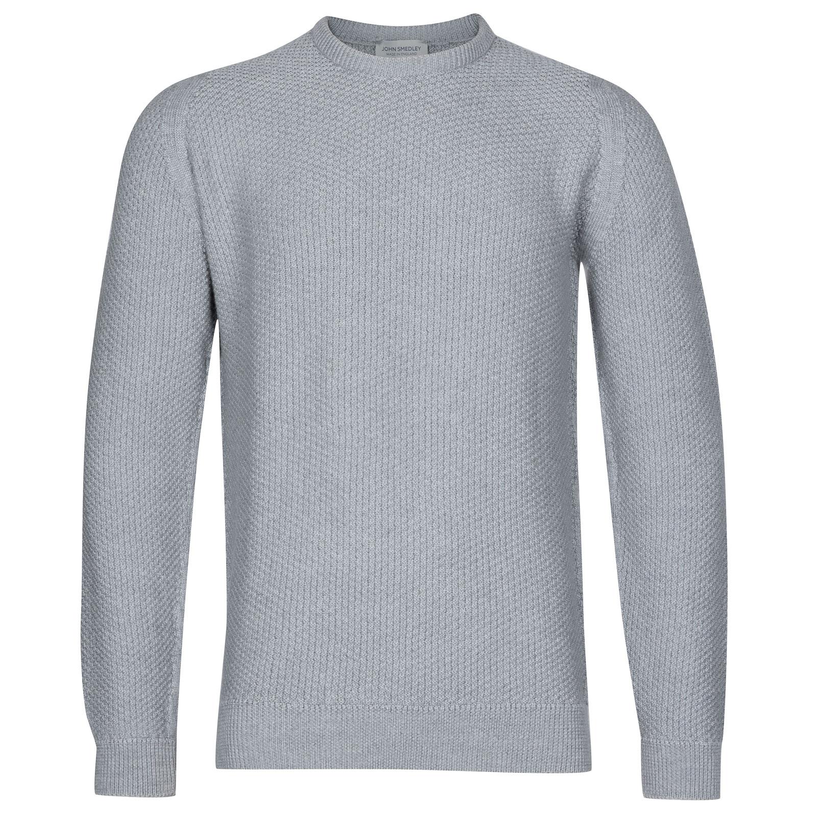 John Smedley 8Singular Merino Wool Pullover in Bardot Grey-XXL