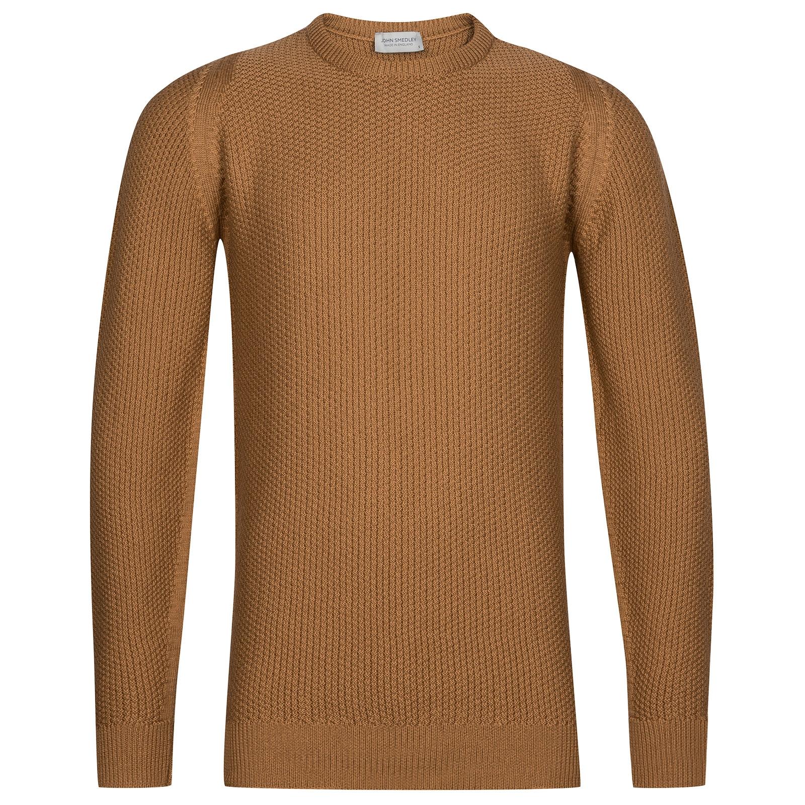 John Smedley 8singular Merino Wool Pullover in Camel-XS