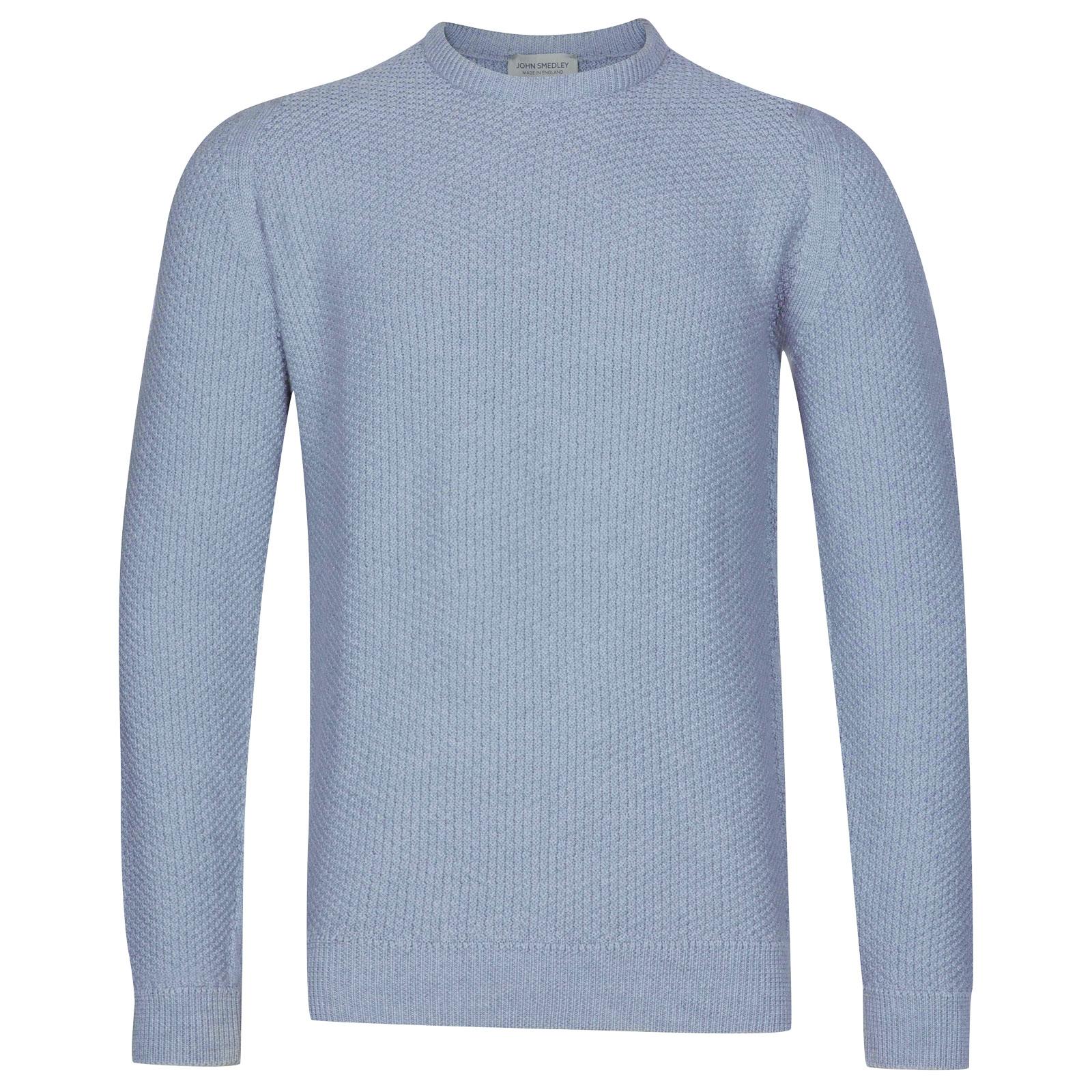 John Smedley 8Singular in Sky Blue Pullover-MED