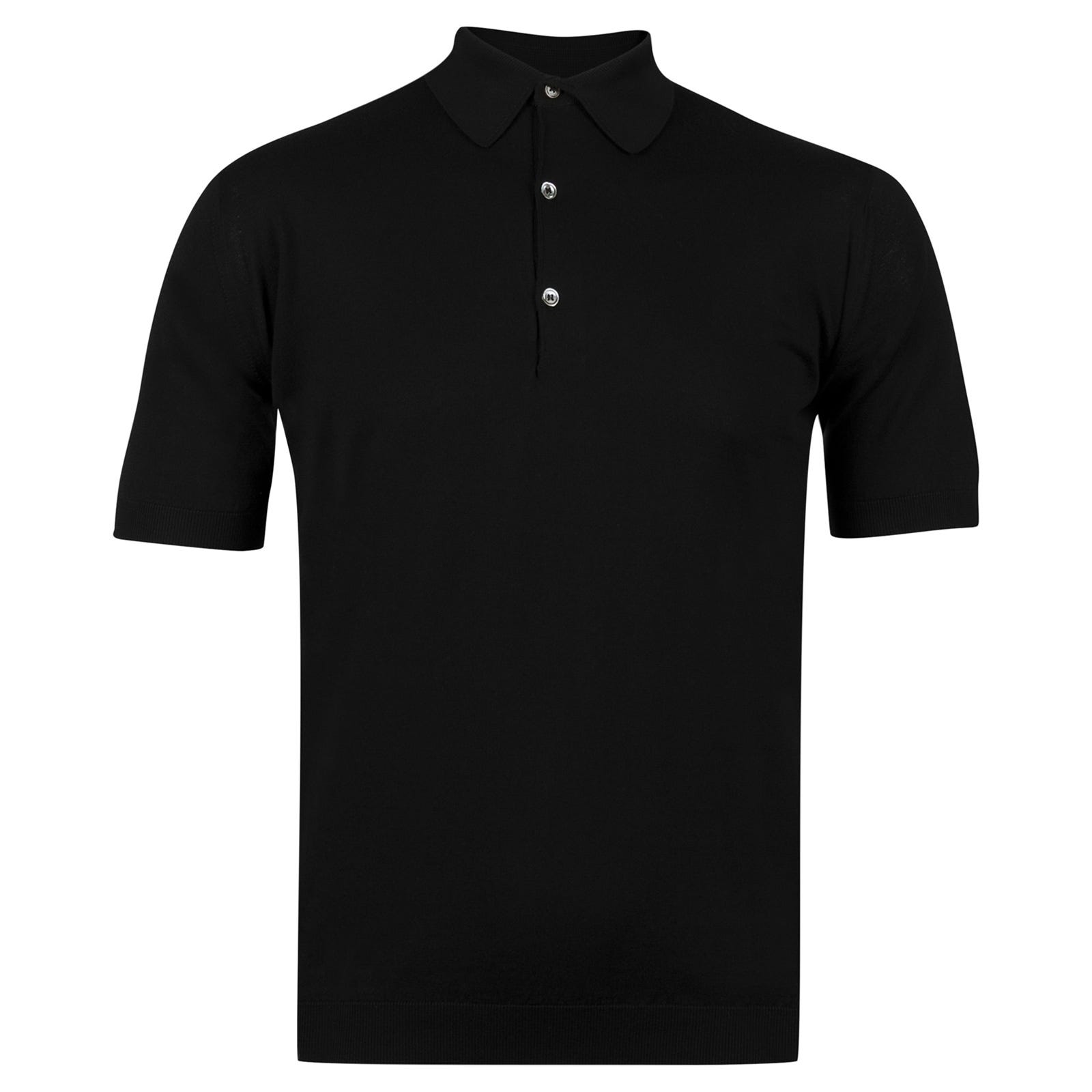 John Smedley adrian Sea Island Cotton Shirt in Black-L