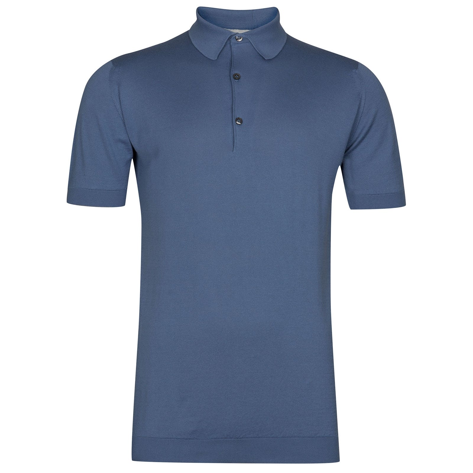 John Smedley Adrian in Blue Iris Shirt-LGE