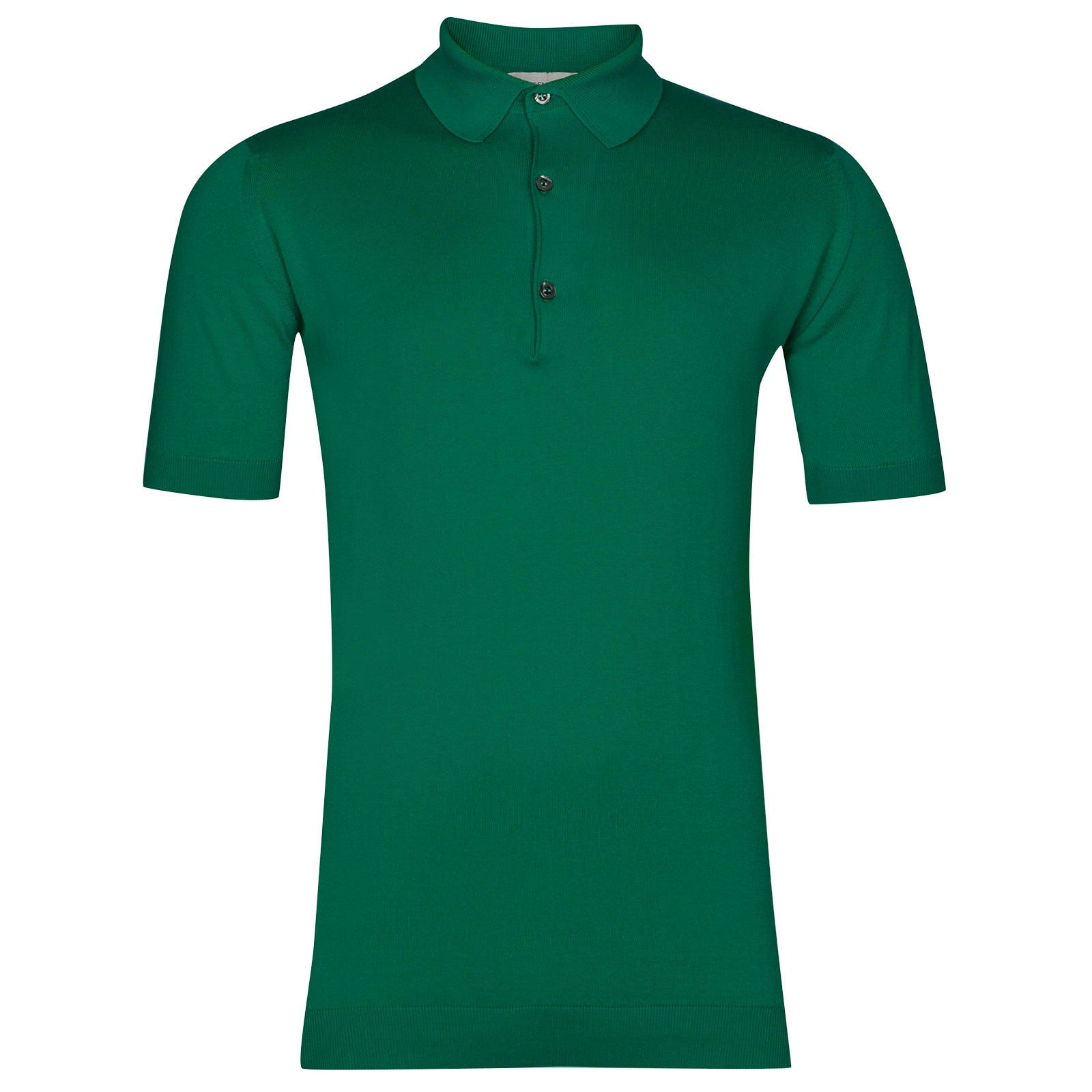 John Smedley Adrian Sea Island Cotton Shirt in Boron Green-M