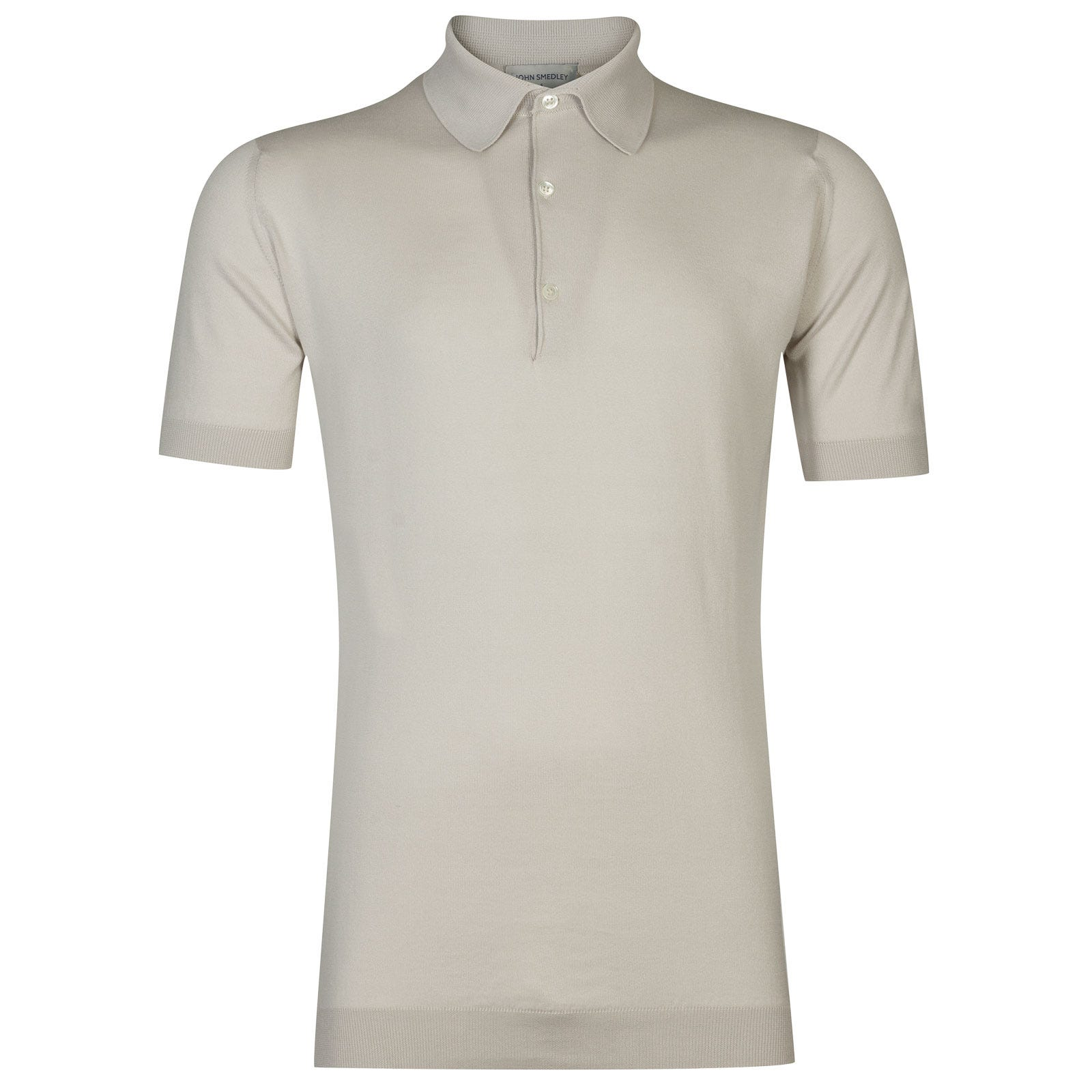 John Smedley Adrian Sea Island Cotton Shirt in Brunel Beige-S