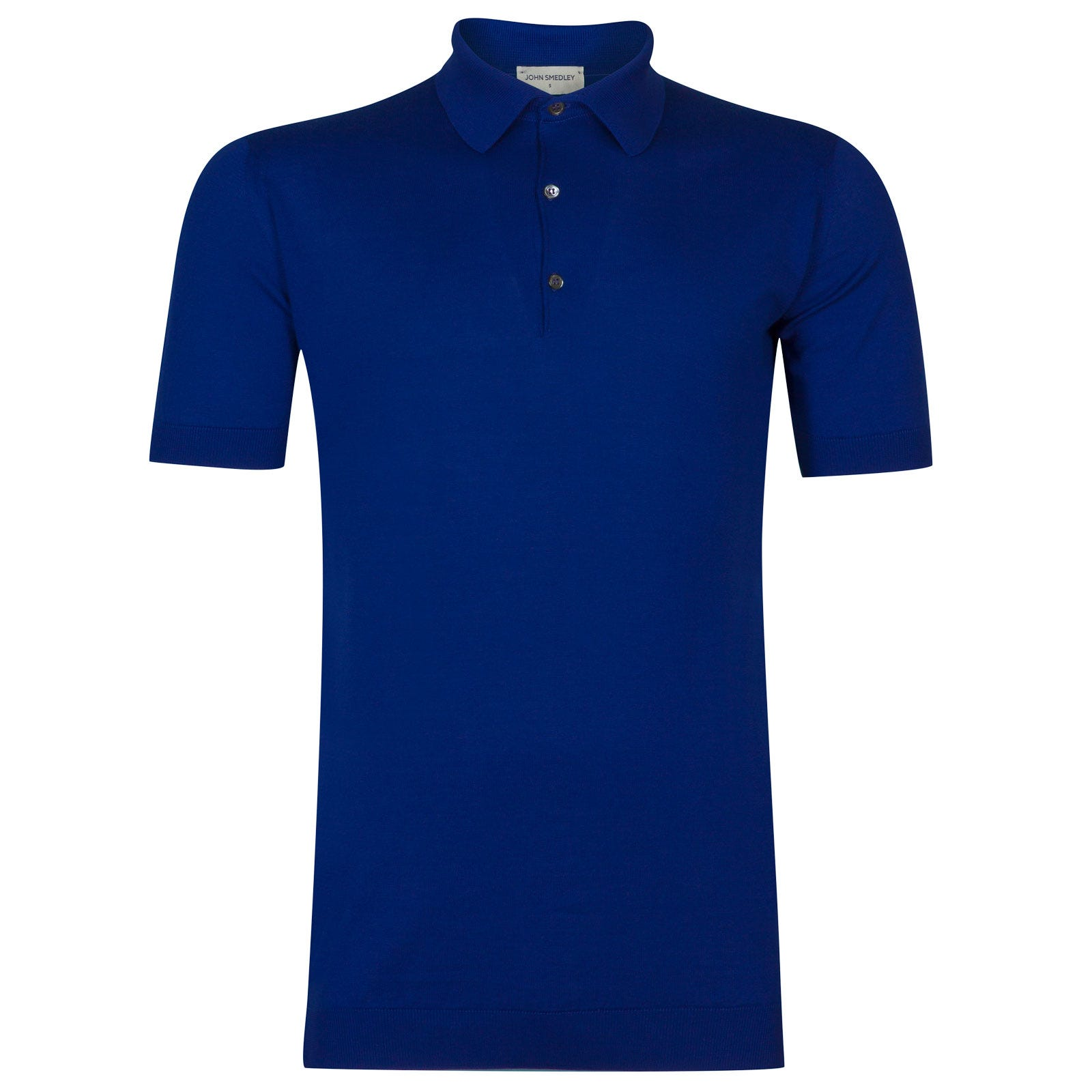 John Smedley adrian Sea Island Cotton Shirt in Coniston Blue-M