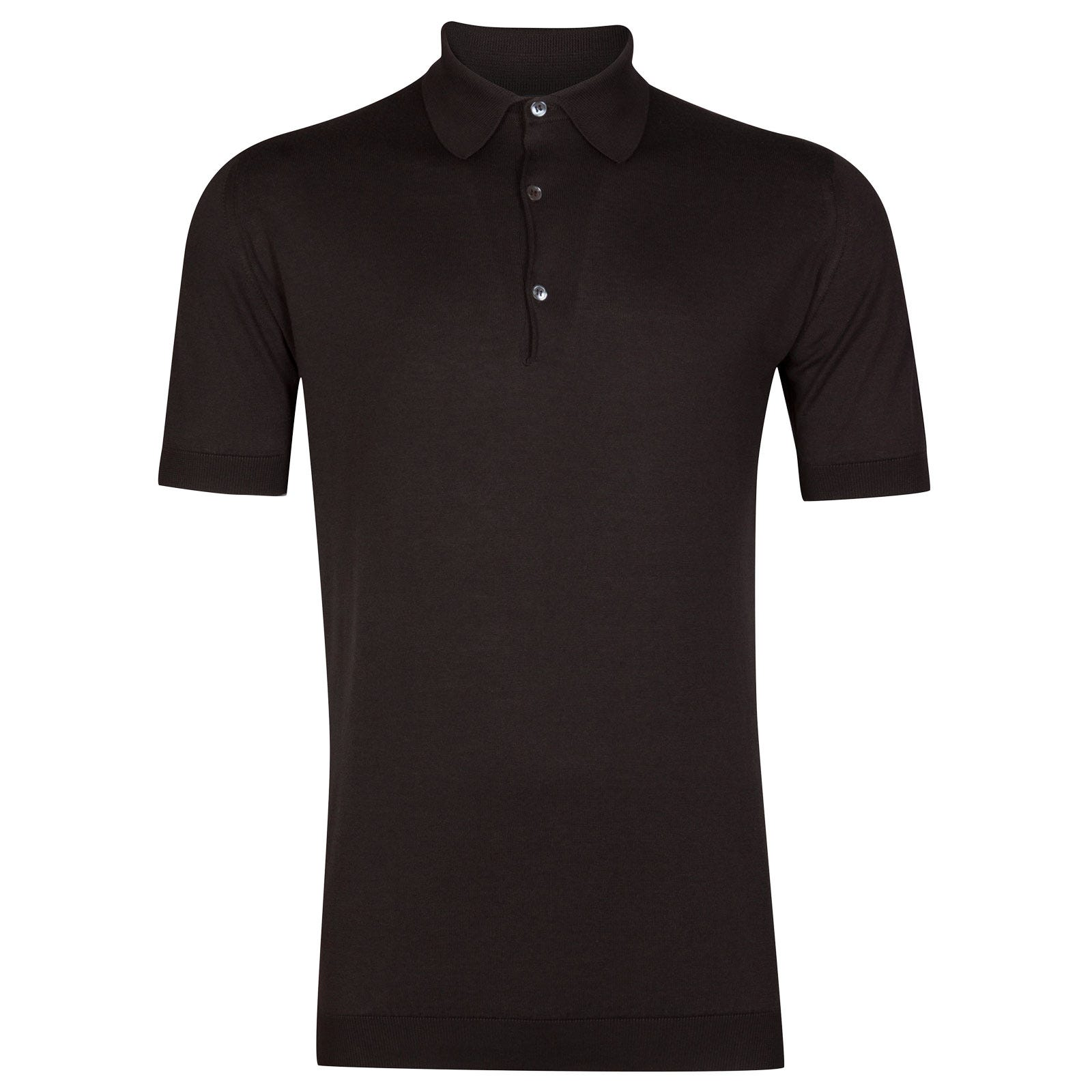 John Smedley Adrian in Dark Leather Shirt-XXL