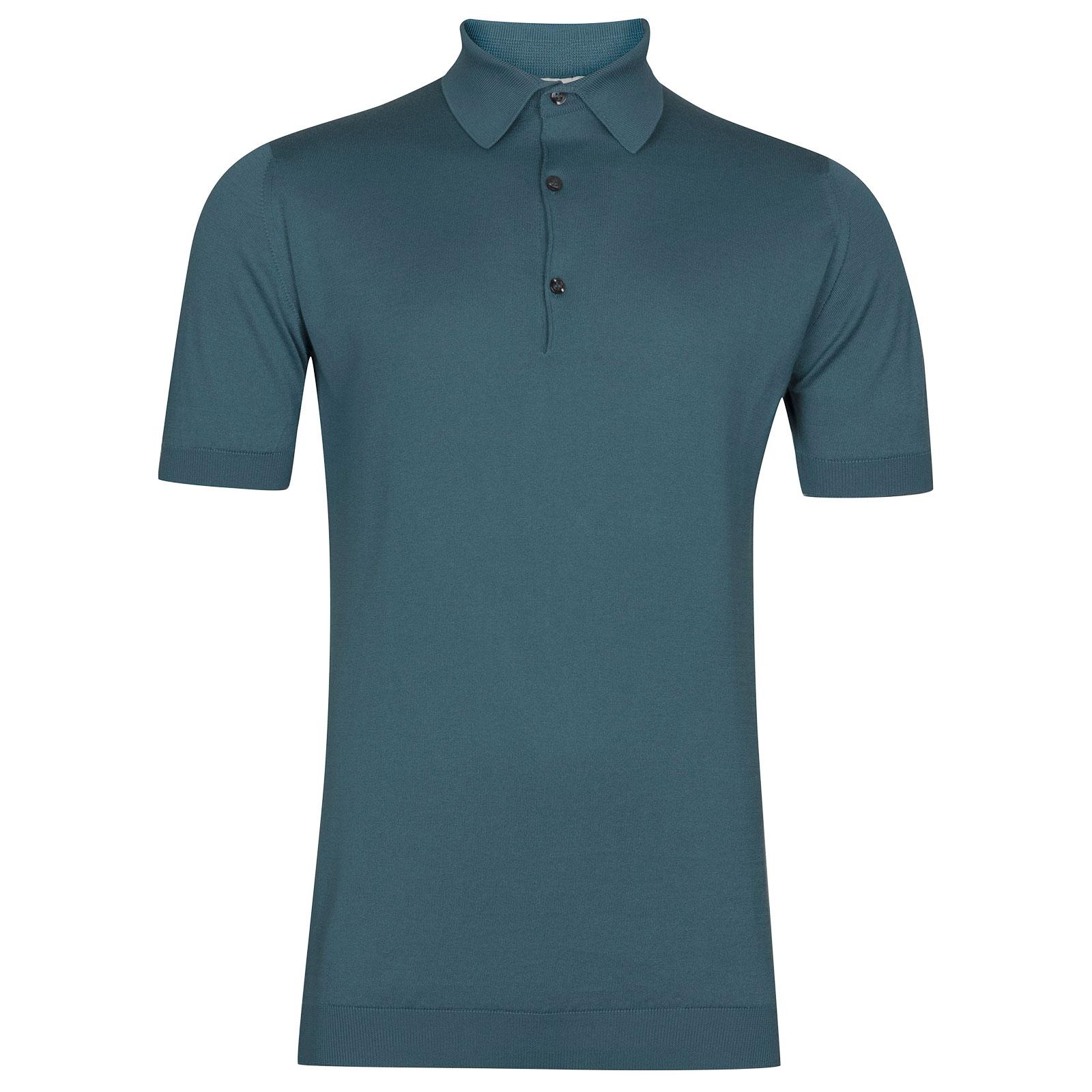 John Smedley Adrian in Dewdrop Blue Shirt-MED