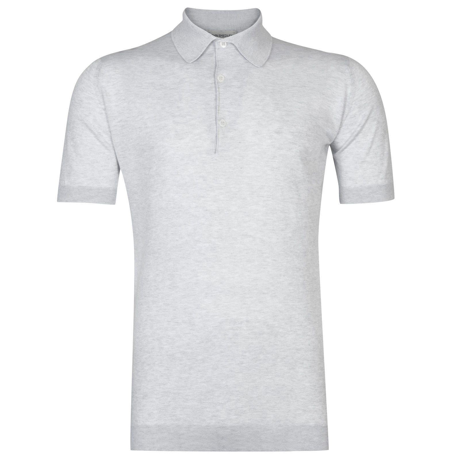 John Smedley adrian Sea Island Cotton Shirt in Feather Grey-L