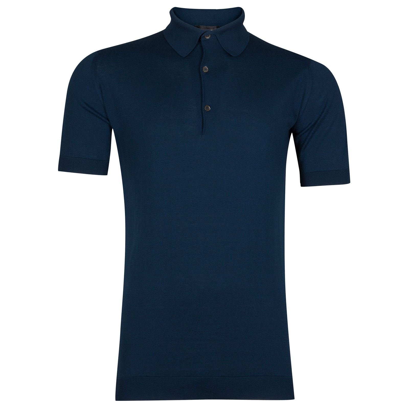 John Smedley adrian Sea Island Cotton Shirt in Indigo-S