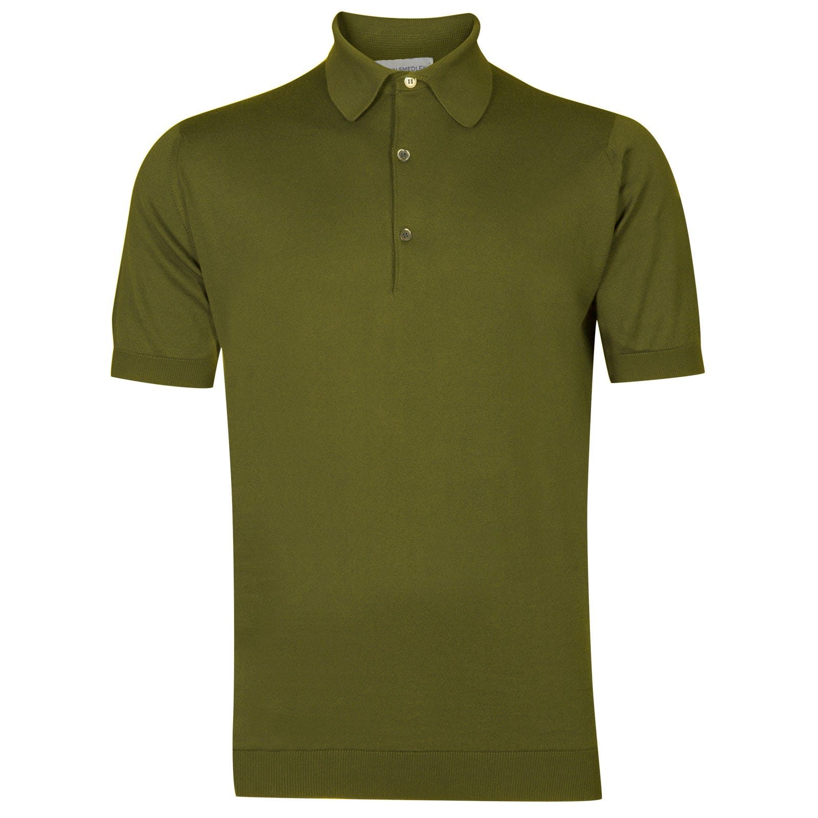 John Smedley adrian Sea Island Cotton Shirt in Lumsdale Green-L
