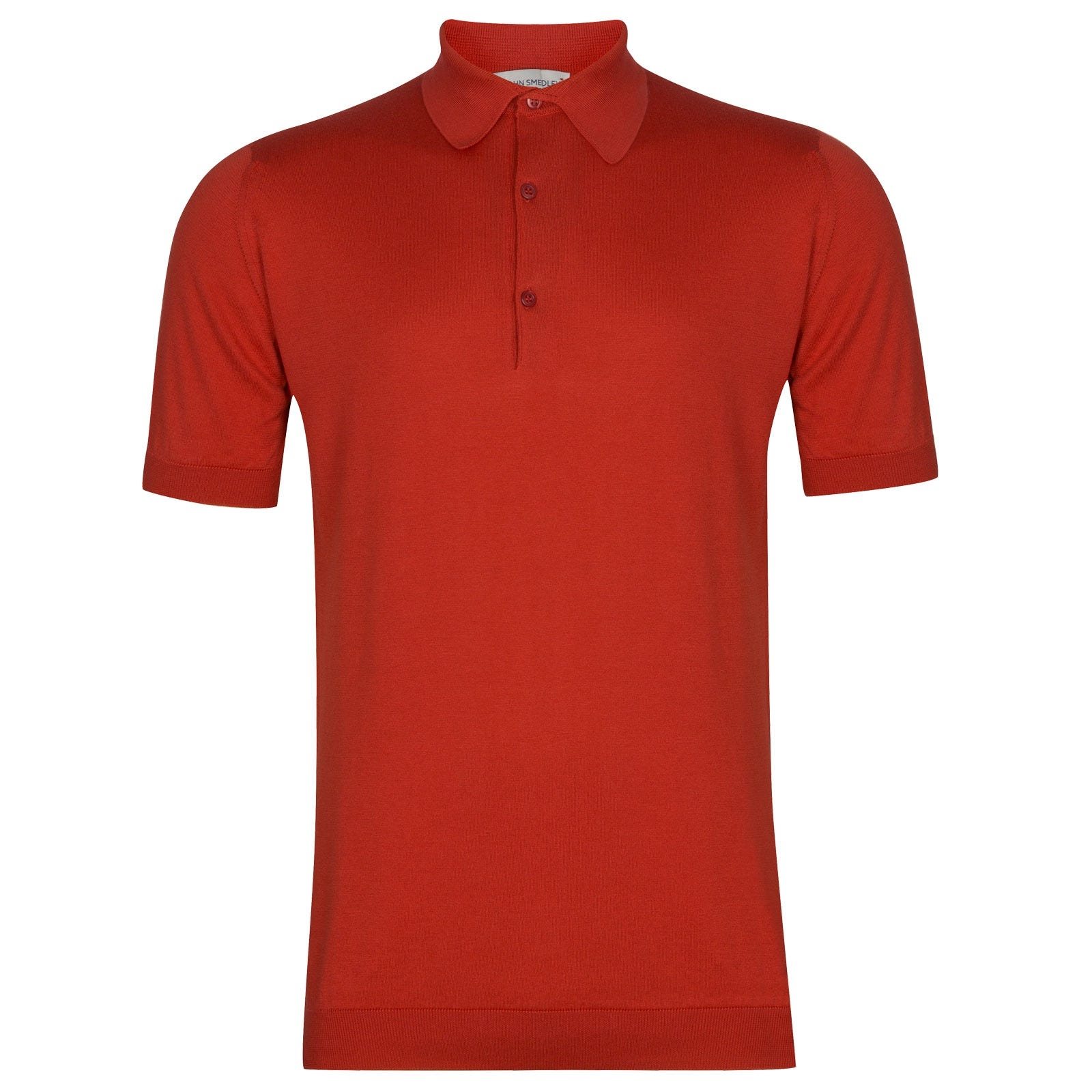 John Smedley Adrian in Red Admiral Shirt-LGE