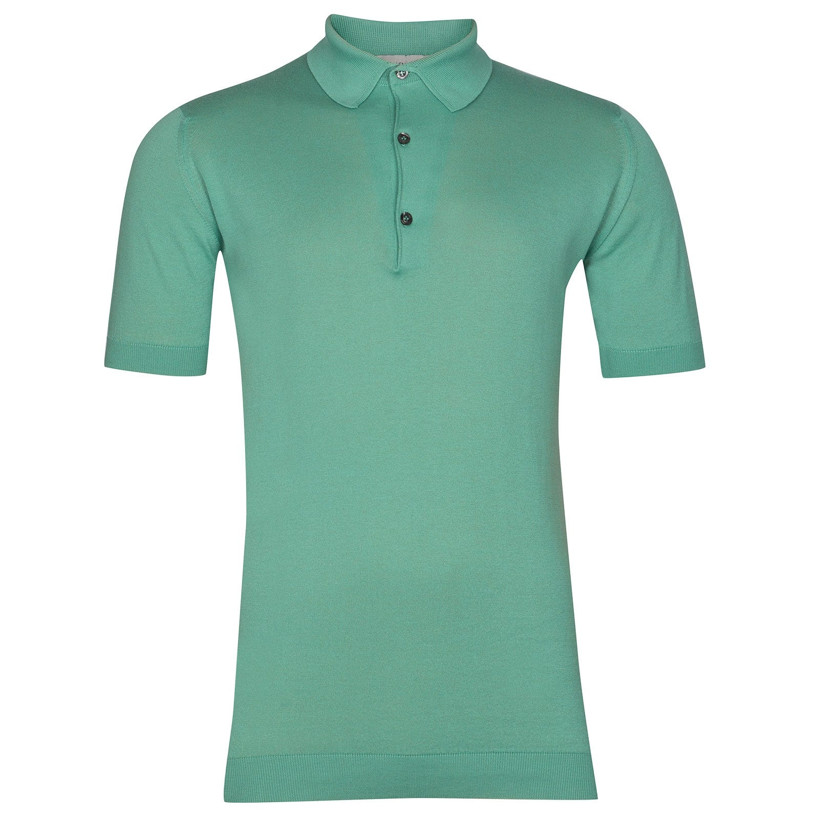 John Smedley Adrian Sea Island Cotton Shirt in Reflective Aqua-M