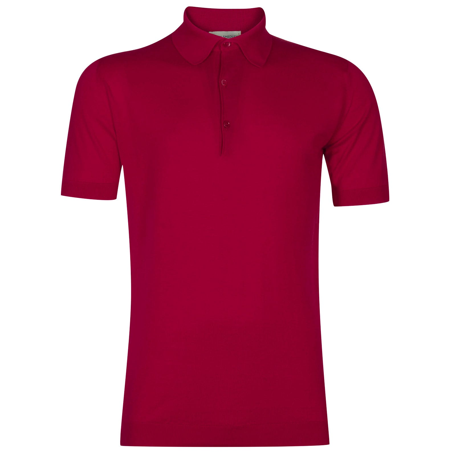John Smedley adrian Sea Island Cotton Shirt in Scarlet Sky-S