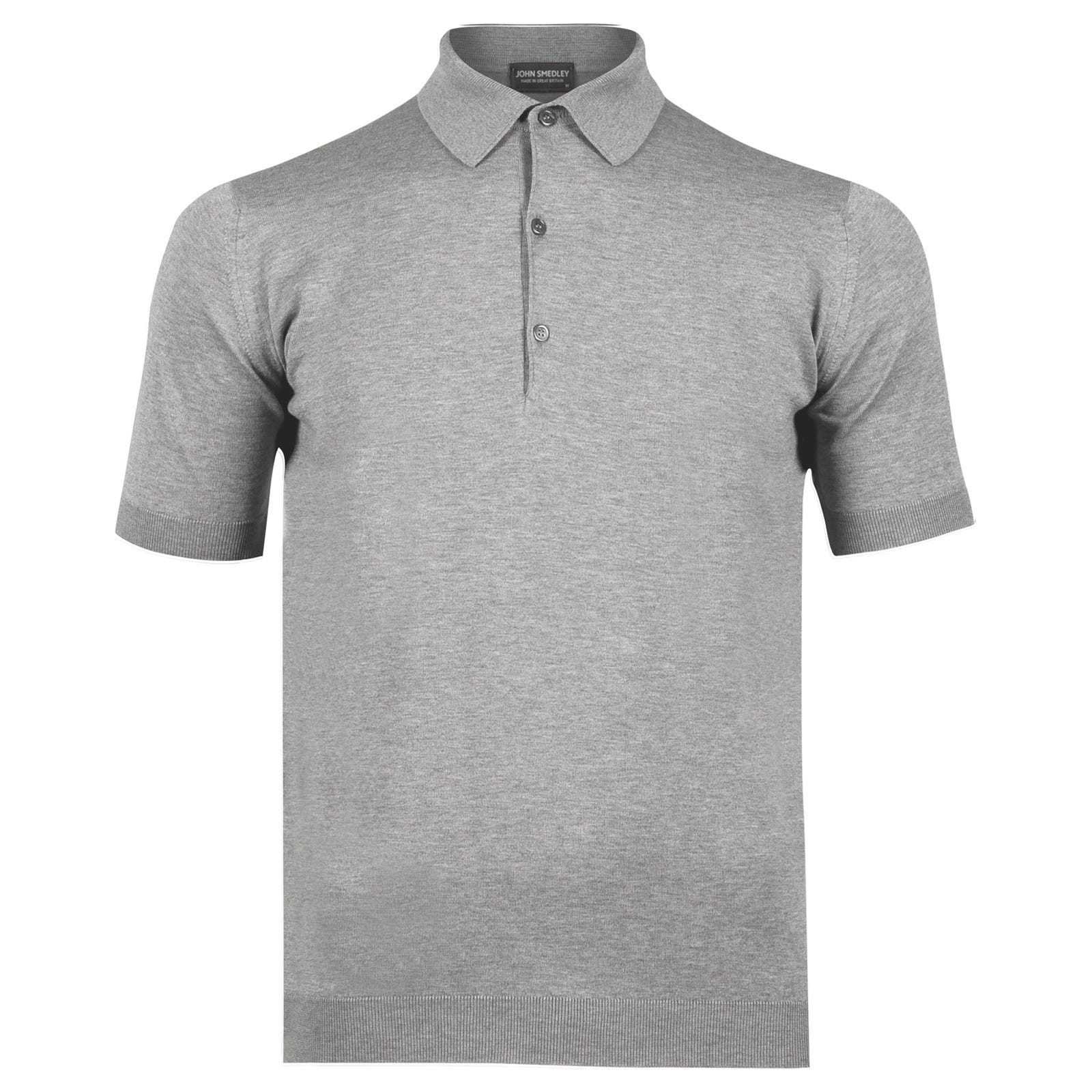John Smedley adrian Sea Island Cotton Shirt in Silver-XL