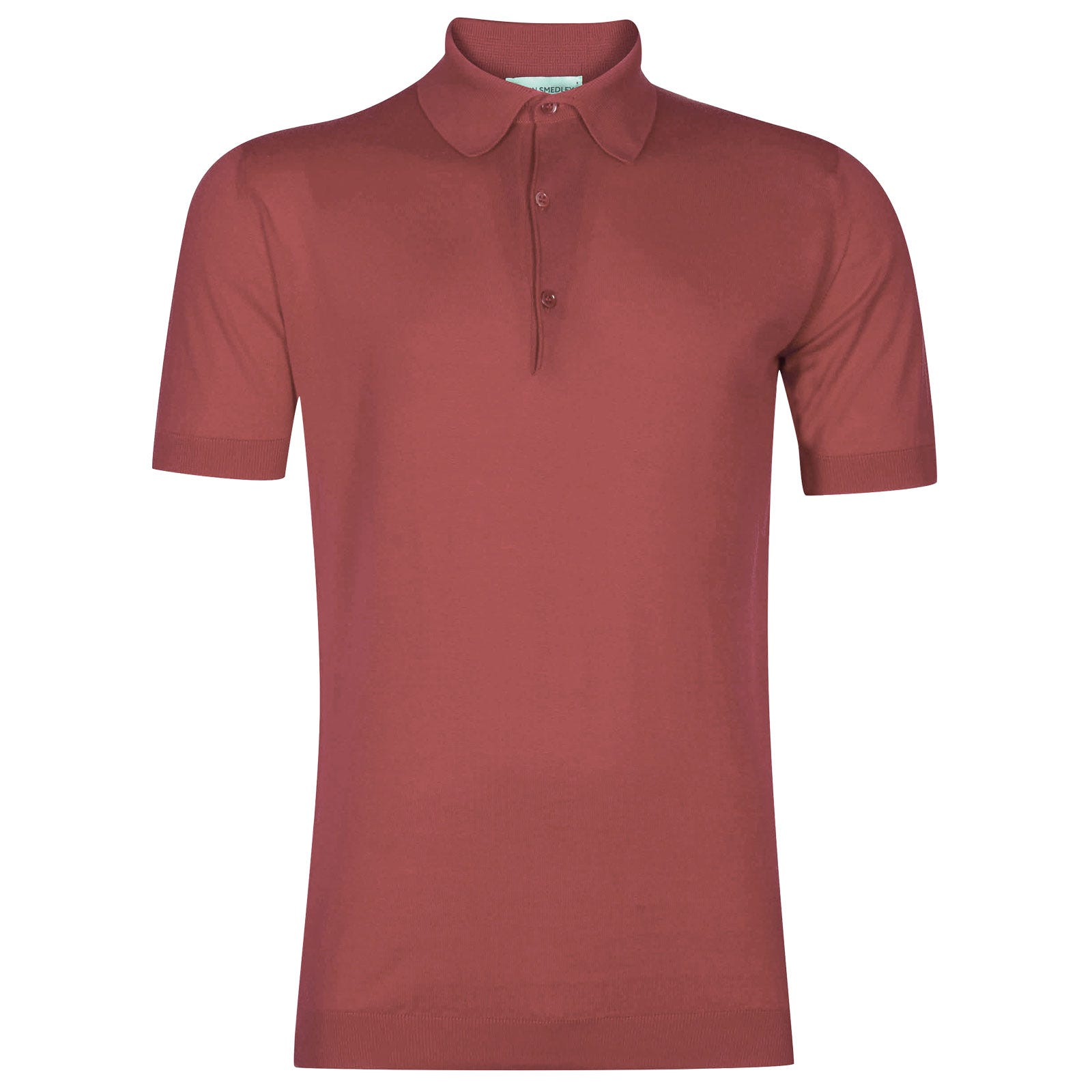 John Smedley adrian Sea Island Cotton Shirt in Stanton Pink-L