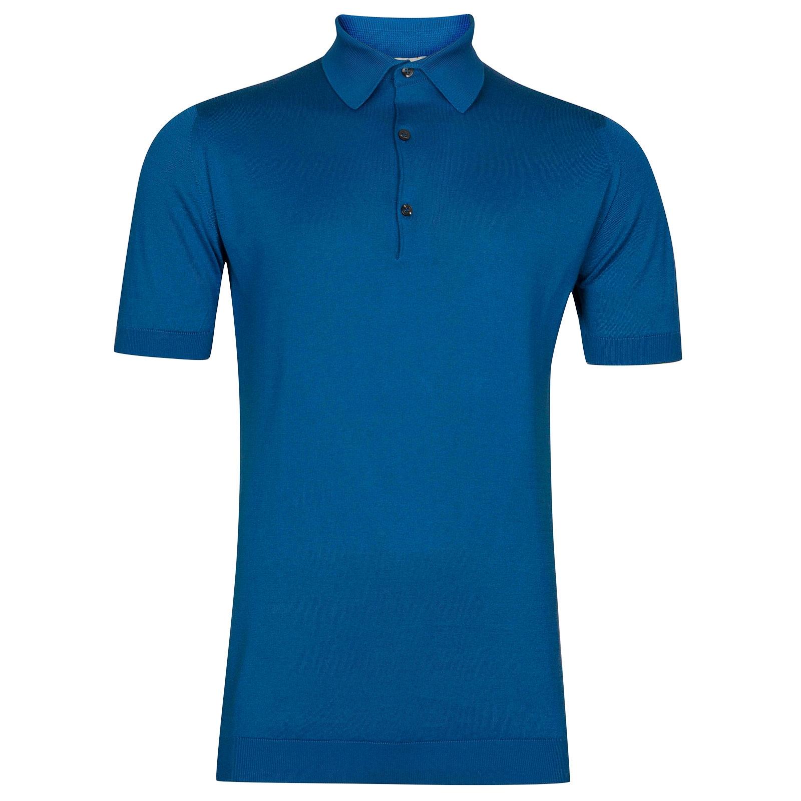 John Smedley Adrian in Statice Blue Shirt-LGE