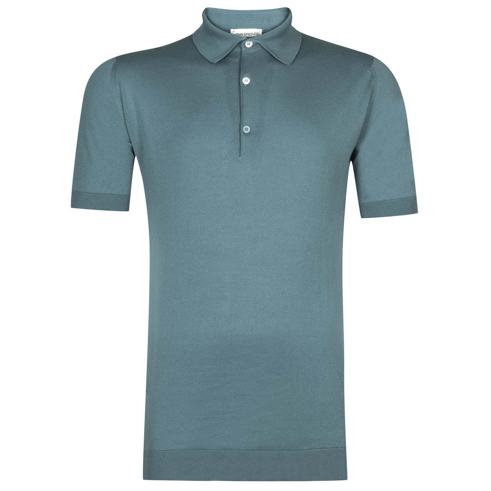John Smedley adrian Sea Island Cotton Shirt in Summit Blue-M