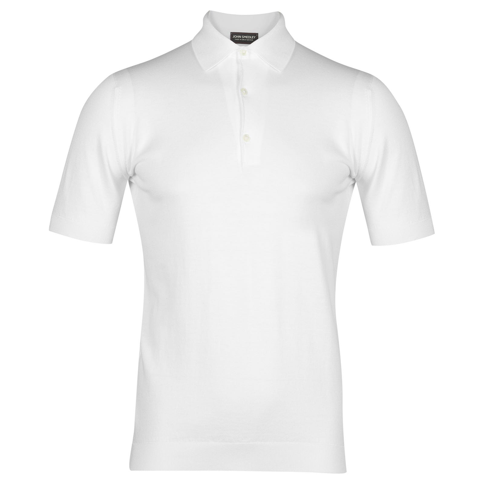 John Smedley adrian Sea Island Cotton Shirt in white-XXL