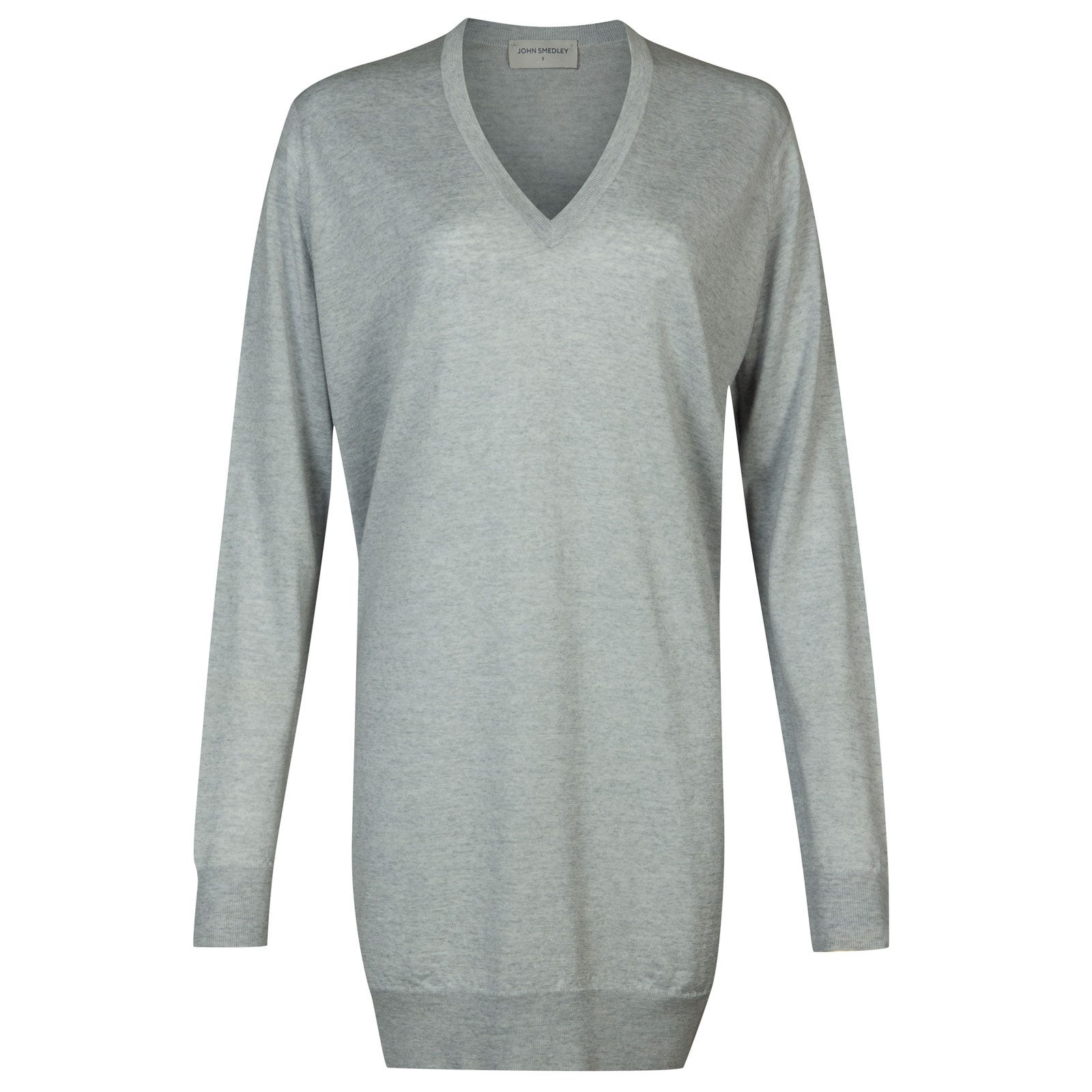 John Smedley Alma Merino Wool Sweater in Bardot Grey-M