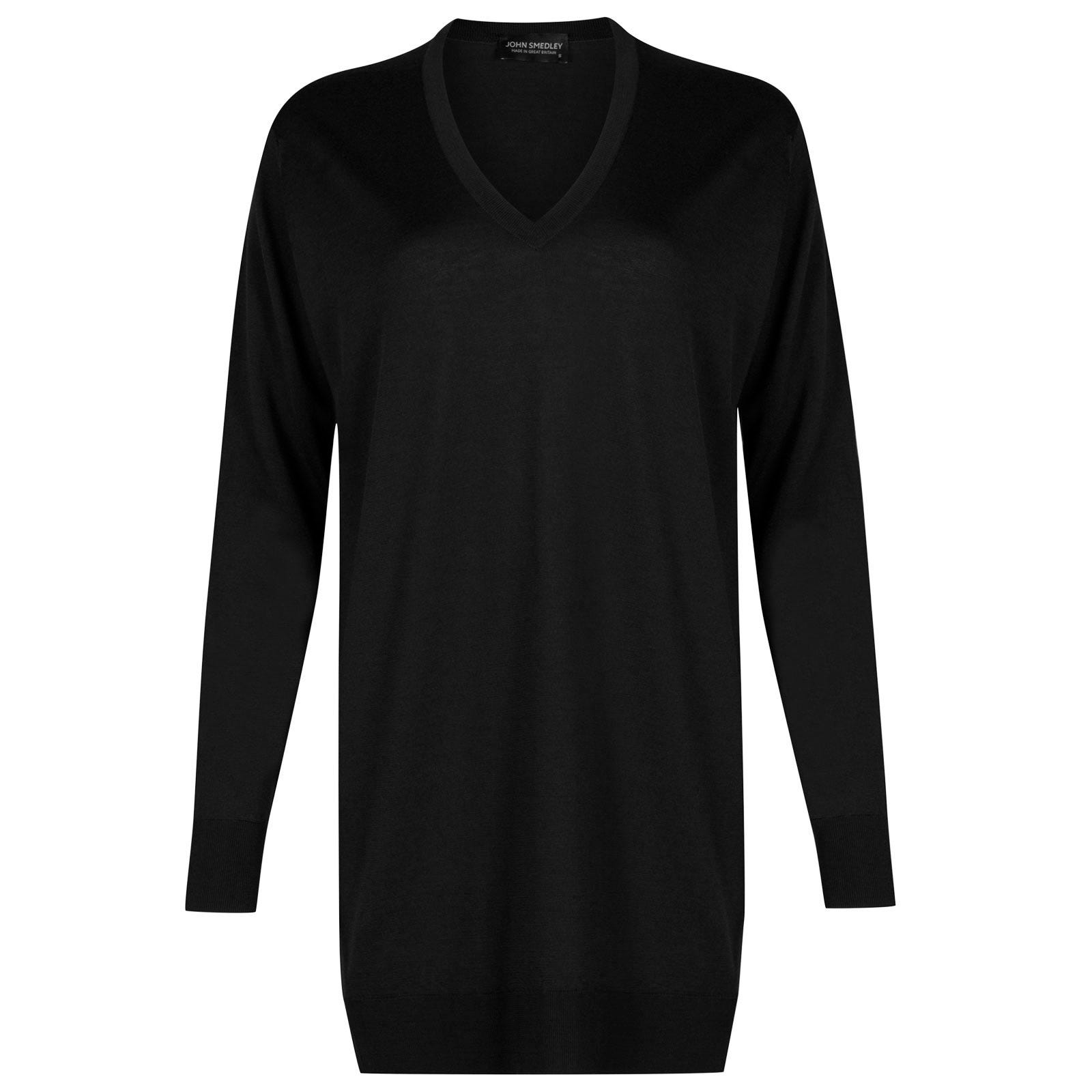 John Smedley Alma Merino Wool Sweater in Black-S