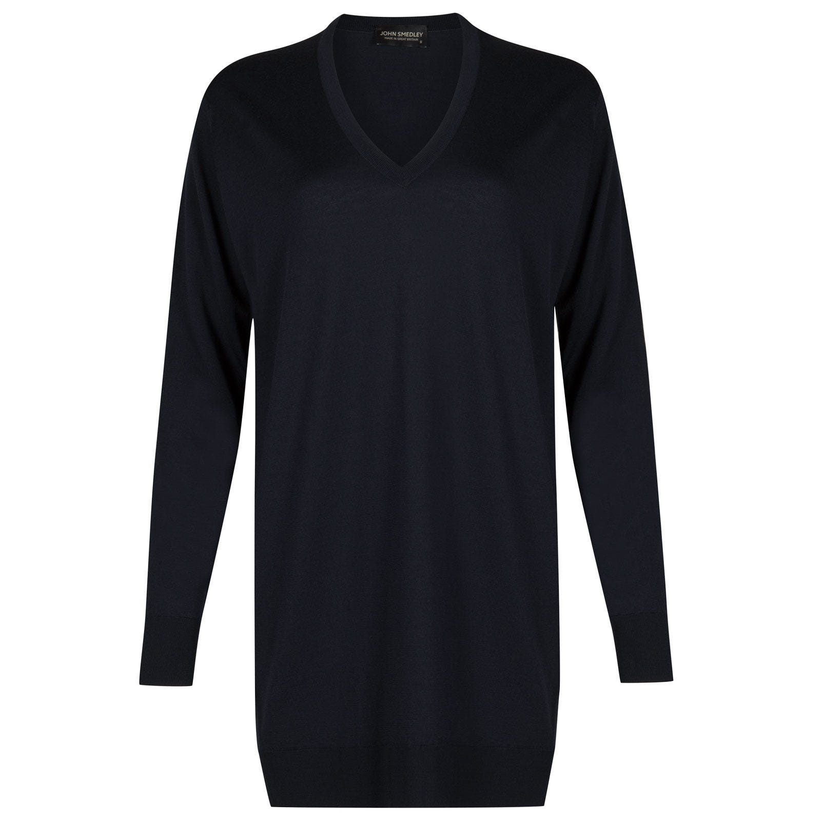 John Smedley Alma Merino Wool Sweater in Midnight-M