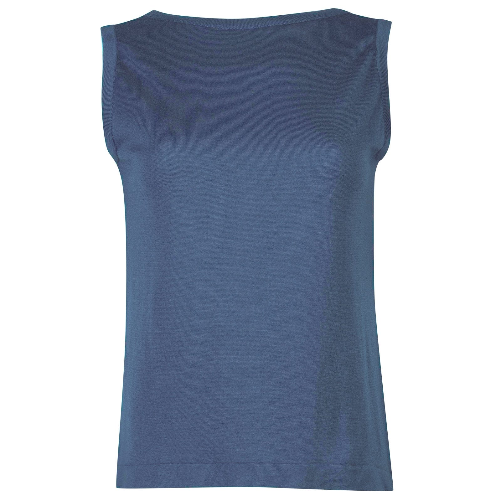 John Smedley Ana in Blue Iris Sweater-LGE