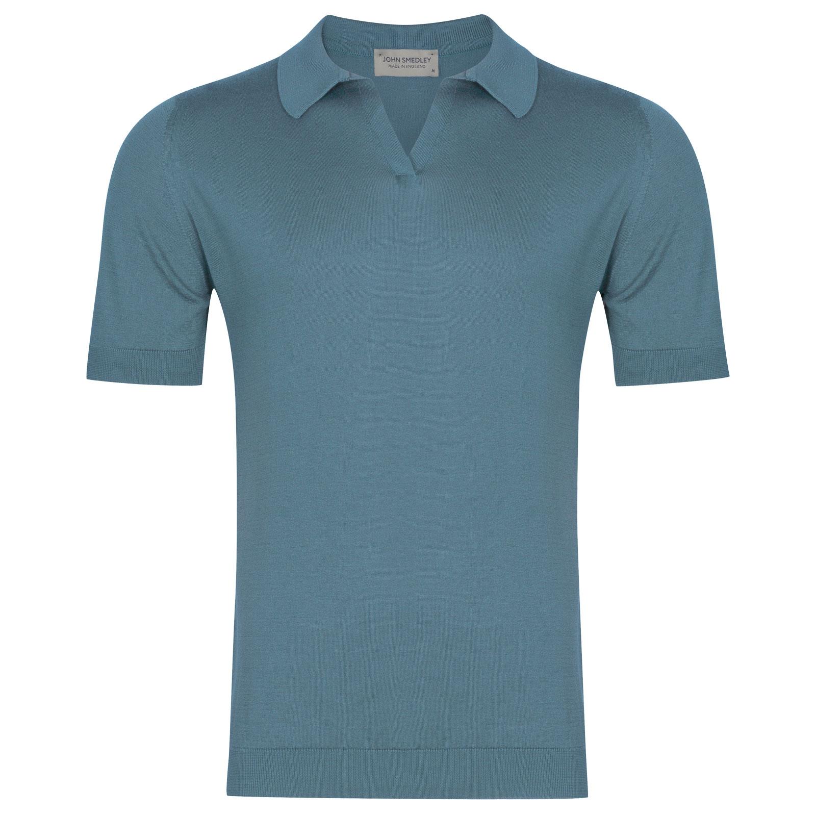 John Smedley Ancona in Dewdrop Blue Shirt-LGE