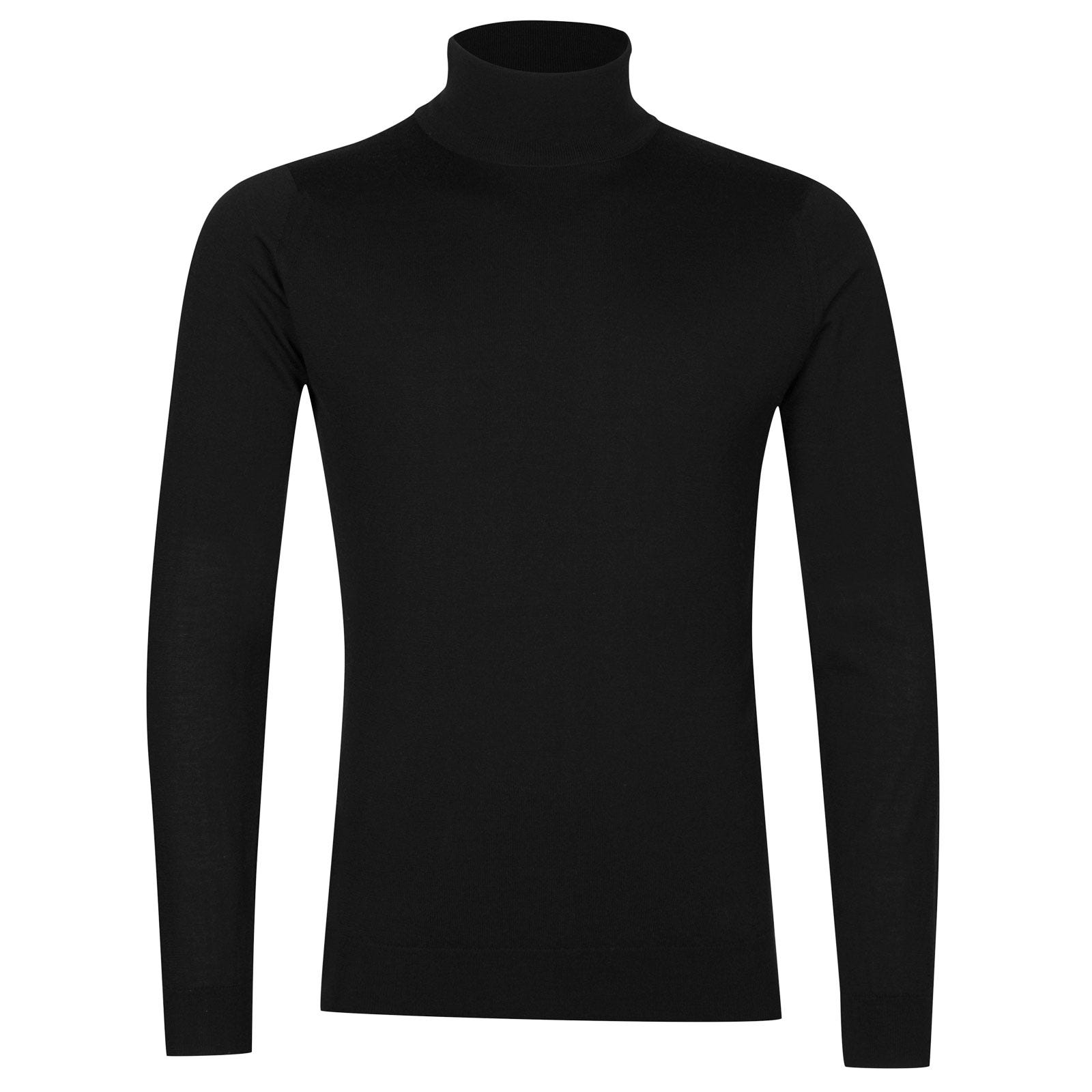 John Smedley arlington Merino Wool and Cashmere Pullover in Black-XXL